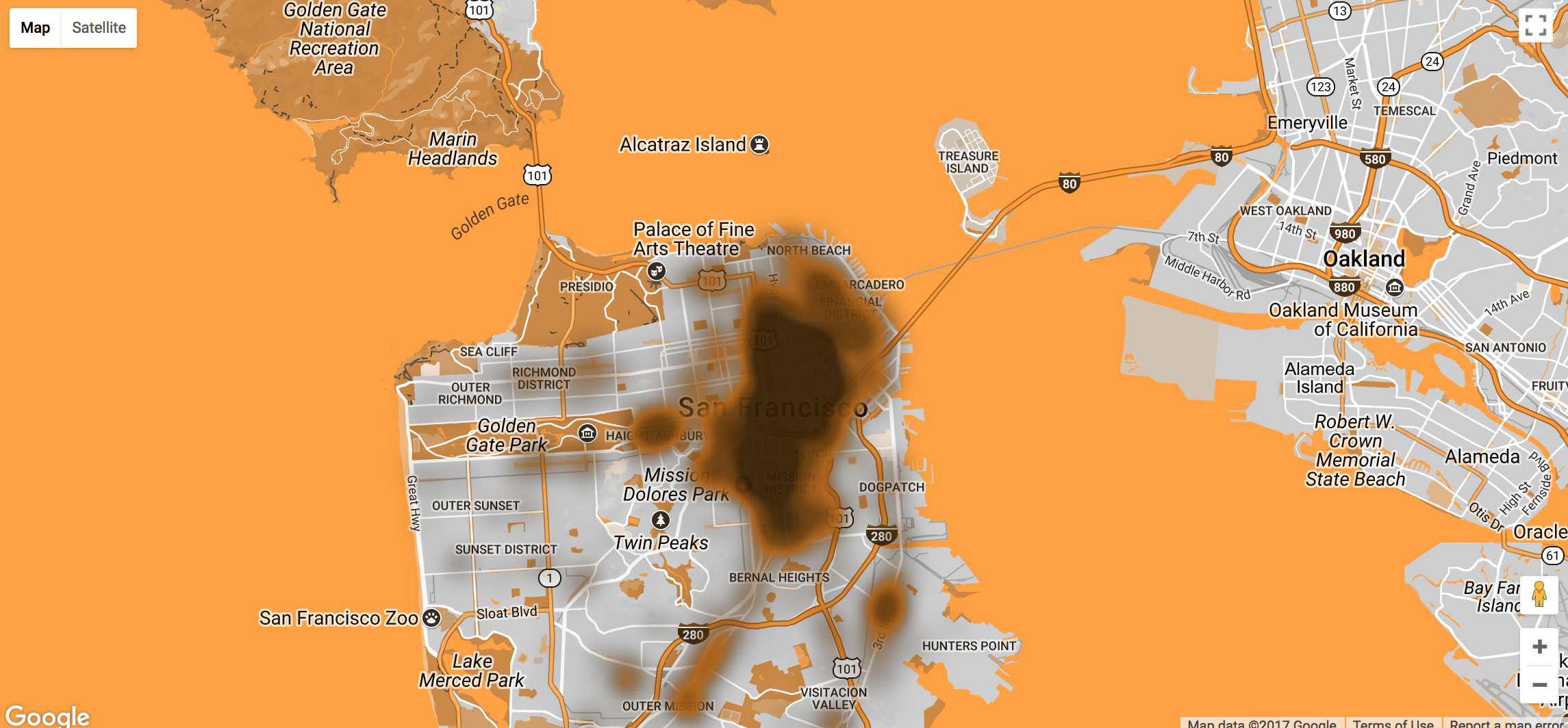 "The ""heat"" map version of Human Wastelane"