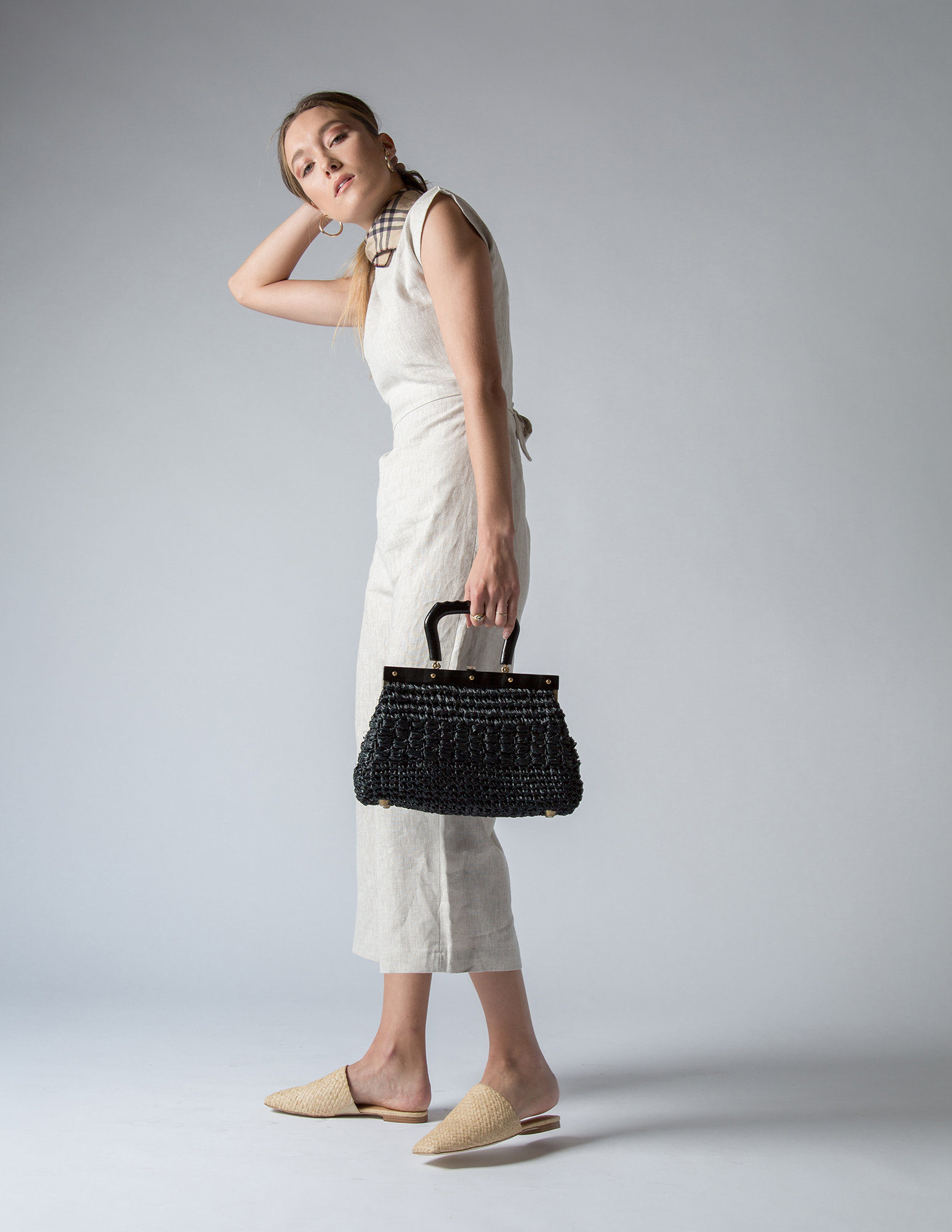 Only Child jumpsuit, Jeffrey Cambell shoes, vintage bag, Burberry scarf, Argento Vivo earrings