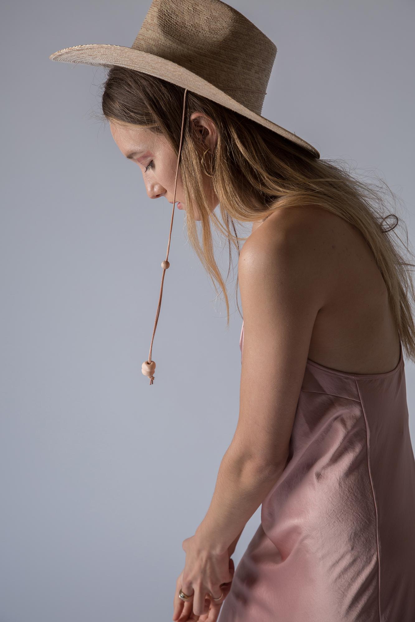 T by Alexander Wang dress, West Perro hat, Argento Vivo earrings.