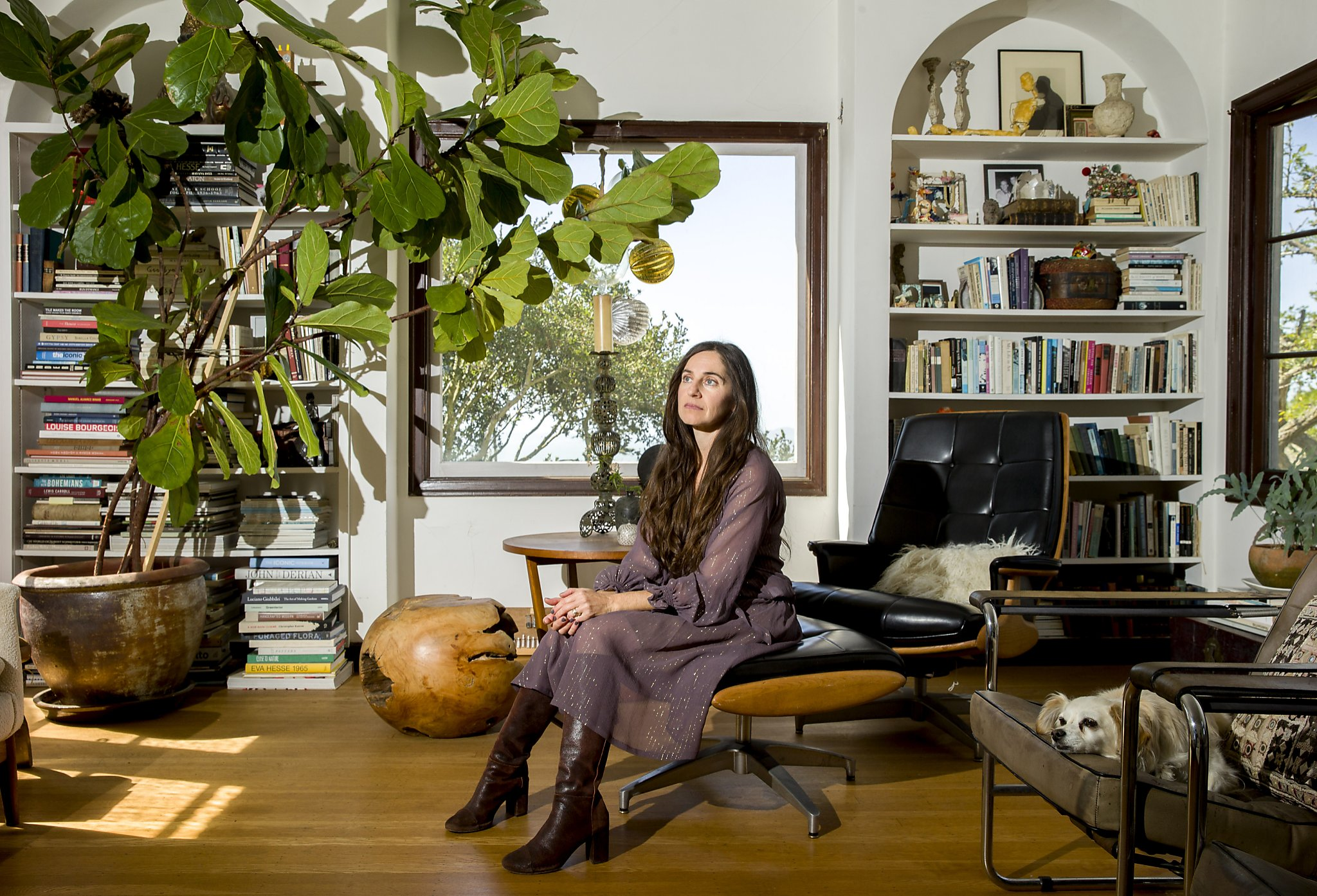 Fashion designer Erica Tanov at her Berkeley home last fall. Photograph by Santiago Mejia / The Chronicle 2017.