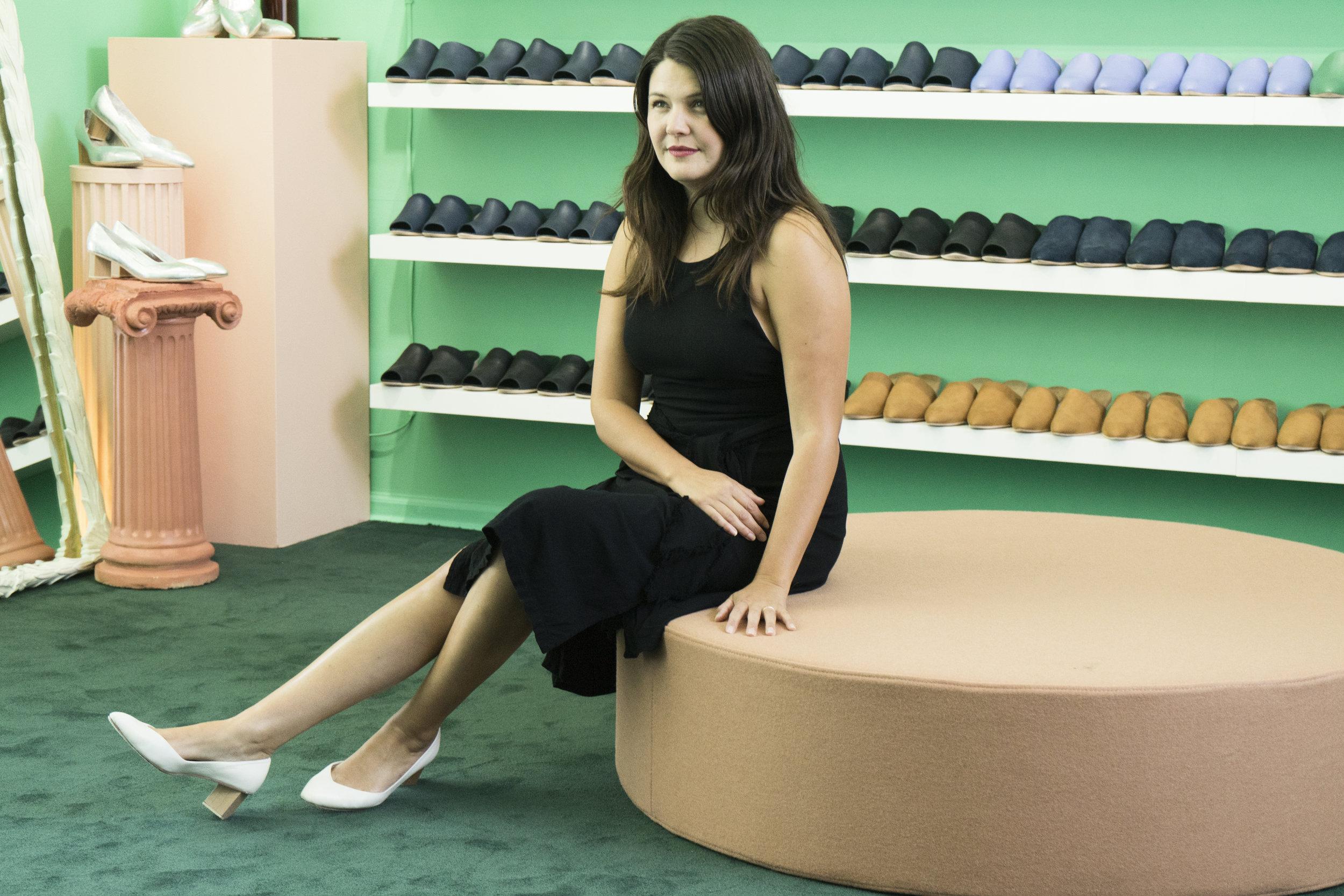 Shayla Dopp in her store in Downtown Berkeley