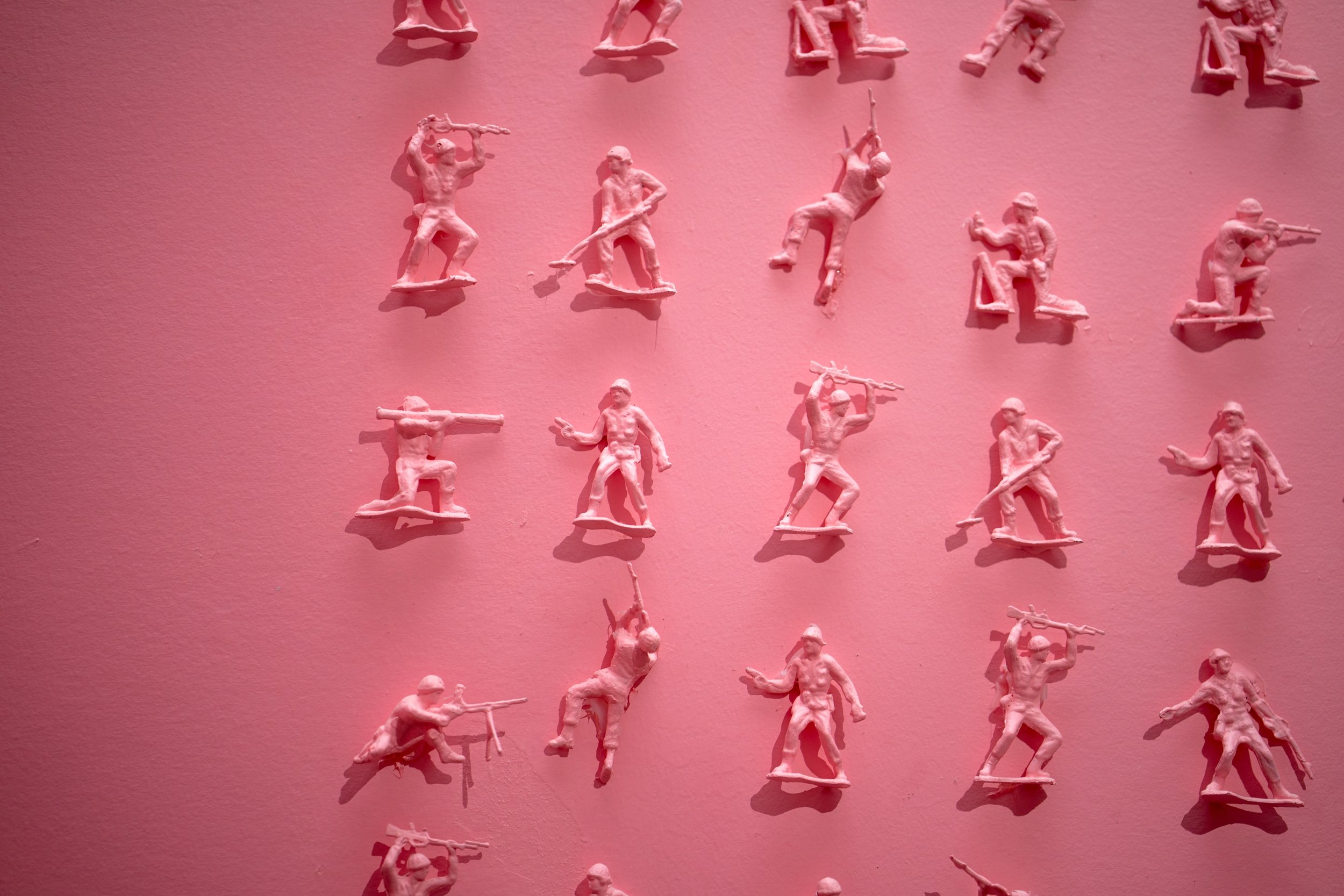 The army soldiers at the Museum of Ice Cream.