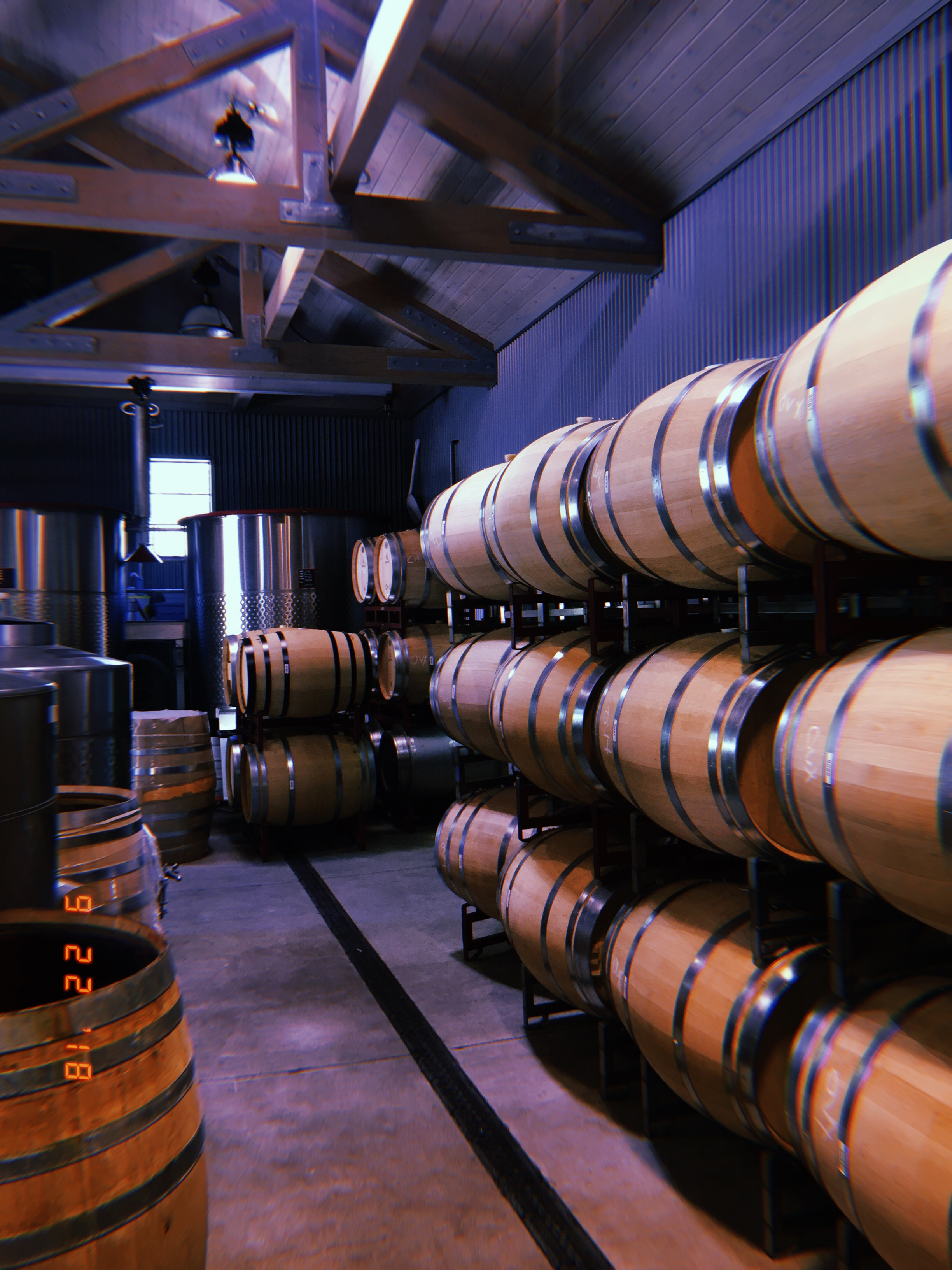 Where the Gargiulo line is stored for age and bottled on site.