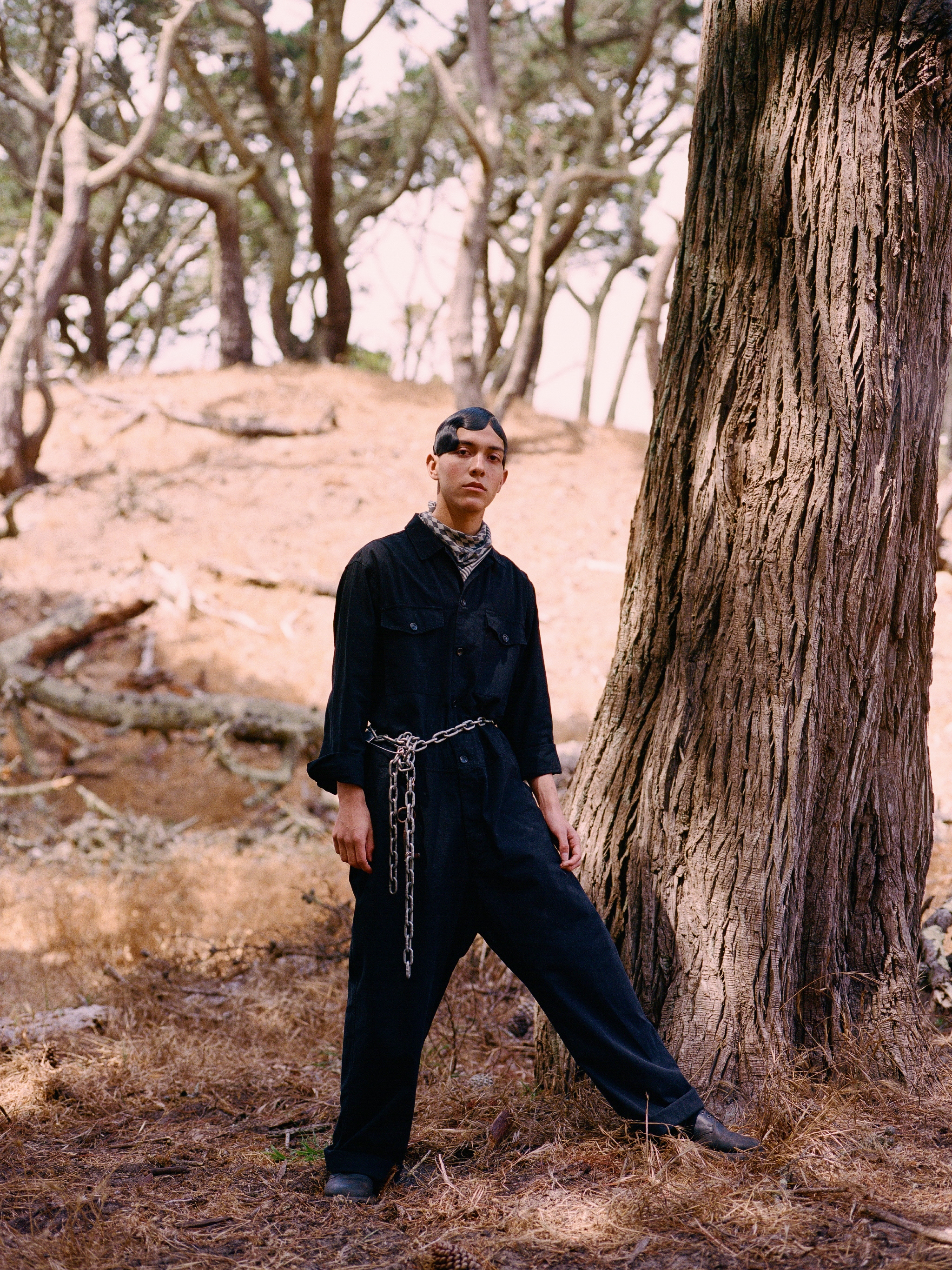 Jumpsuit, Westerlind; Bandana, StyleKouncil vintage