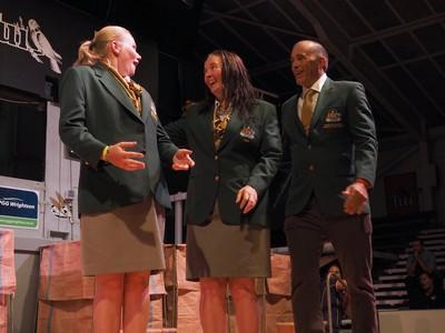 Tara Smith - Sarah Moran - Jim Murray NZ-Aust Woolhanding winners