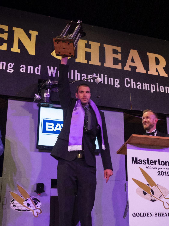 Rowland Smith winner Open Shearing Final 2019