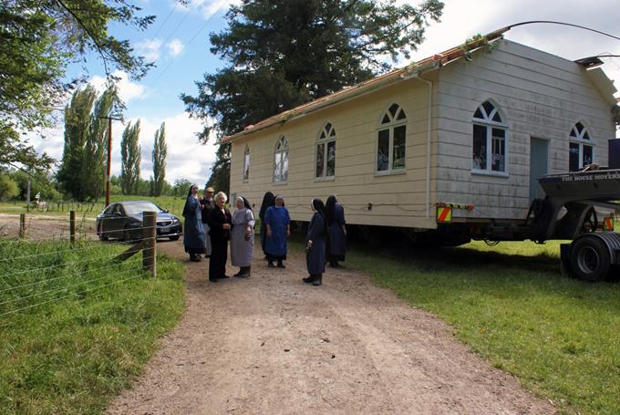 The former Taneatua Church arriving