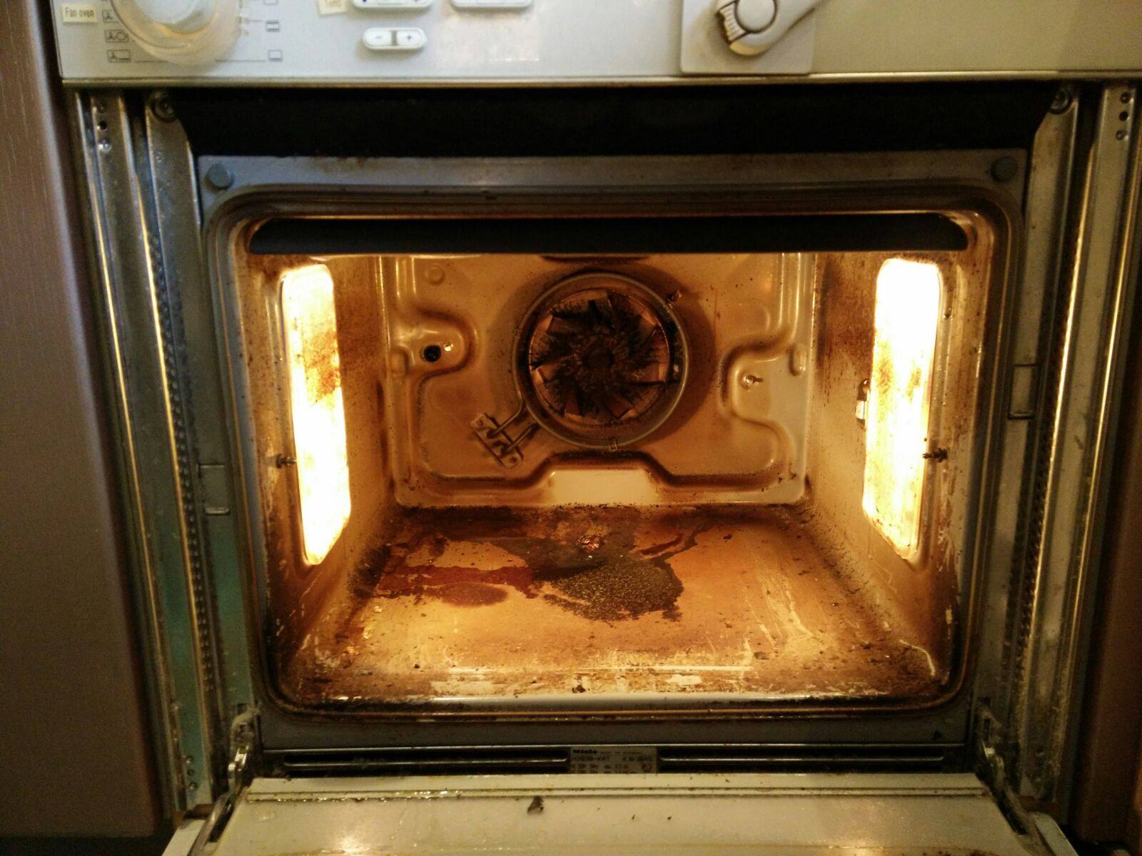 before miele oven clean in bromley