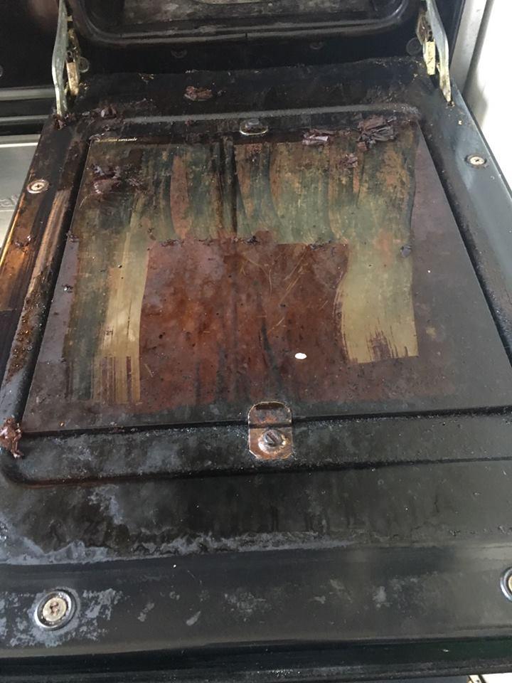 before oven door clean in dulwich