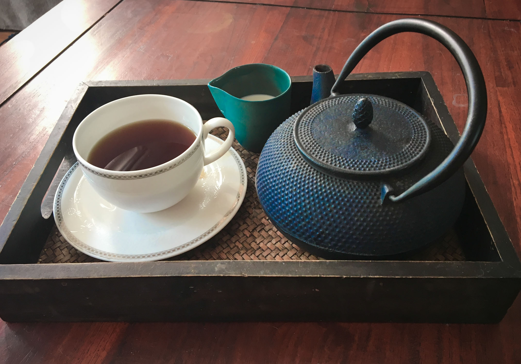 Give up the grocery shopping, and have a cup of tea.