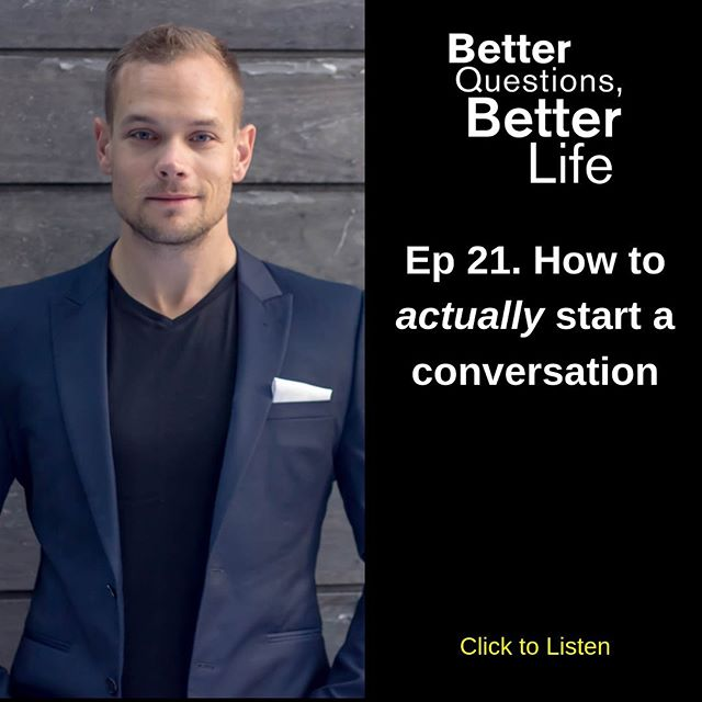 Ever been saw someone and wish you went up to and spoke to them? . In our world of ever increasing isolation and loneliness, I wanted to revisit the lost art of how to start a conversation. . This episode keeps it nice and simple as we look at the 2 fundamental components of how to start a conversation. . Link in the bio. . . . . . #BQBL #podcast ##selfhelp #podcasting #podcaster #radioshow #radio #itunes #applepodcasts #entrepreneur #business #success #entrepreneurship #startup #askbetterquestions #mentorship #questions #question #personalgrowth #curious #growthmindset #growthhacking #motivation #spotify #podbean #neverstoplearning #grateful