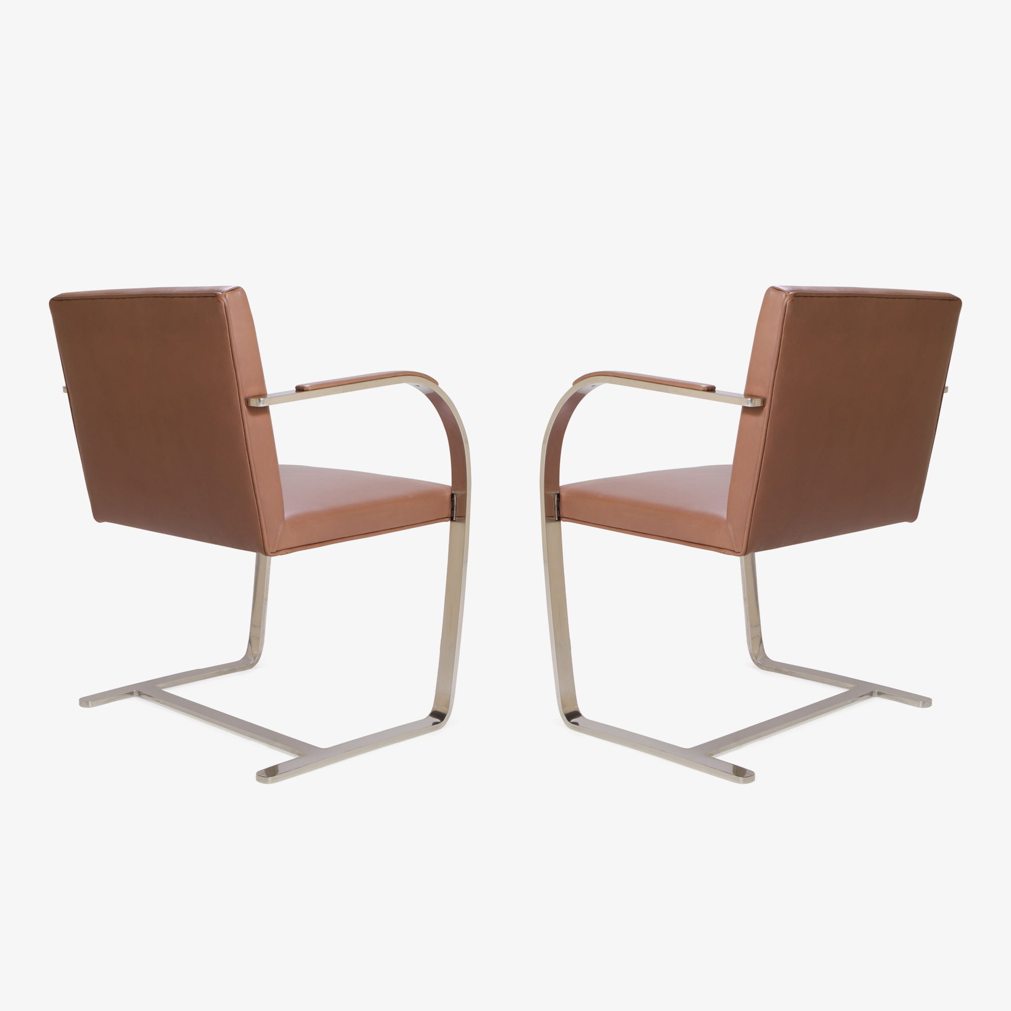 Knoll Brno Flat-Bar Chairs in Leather