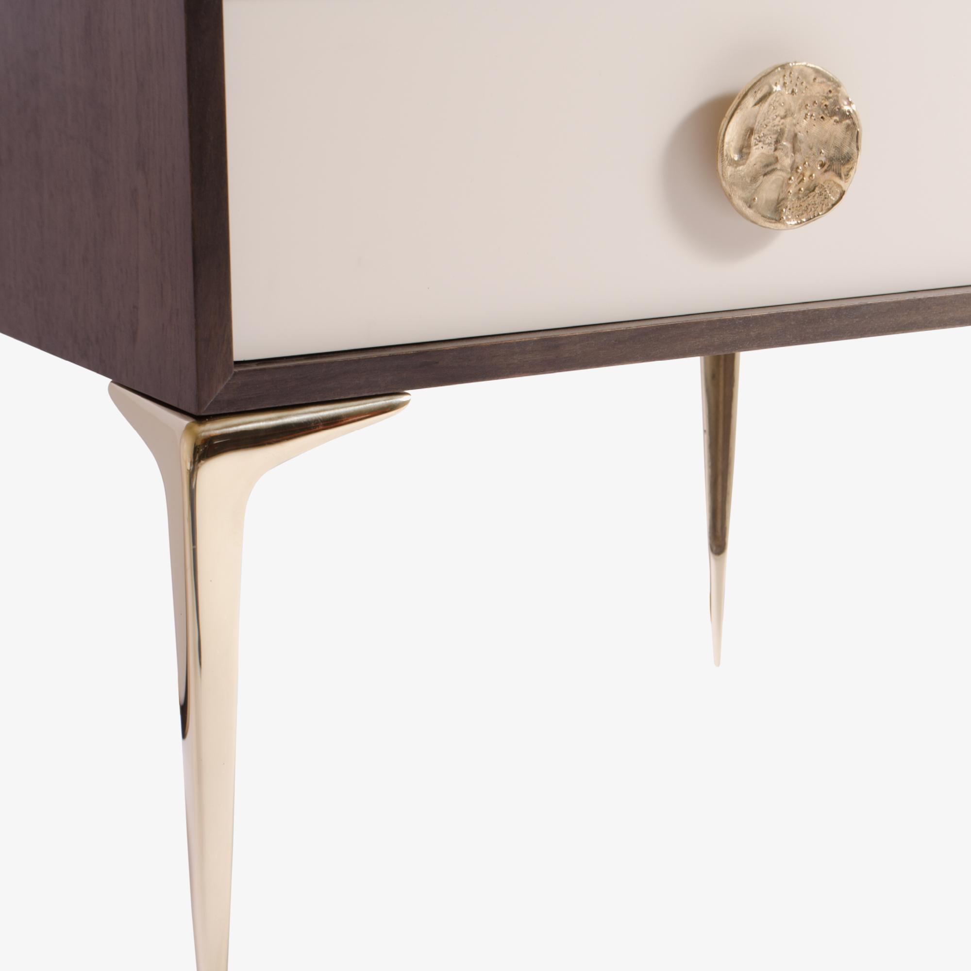 Montage Colette Brass Nightstands in Walnut