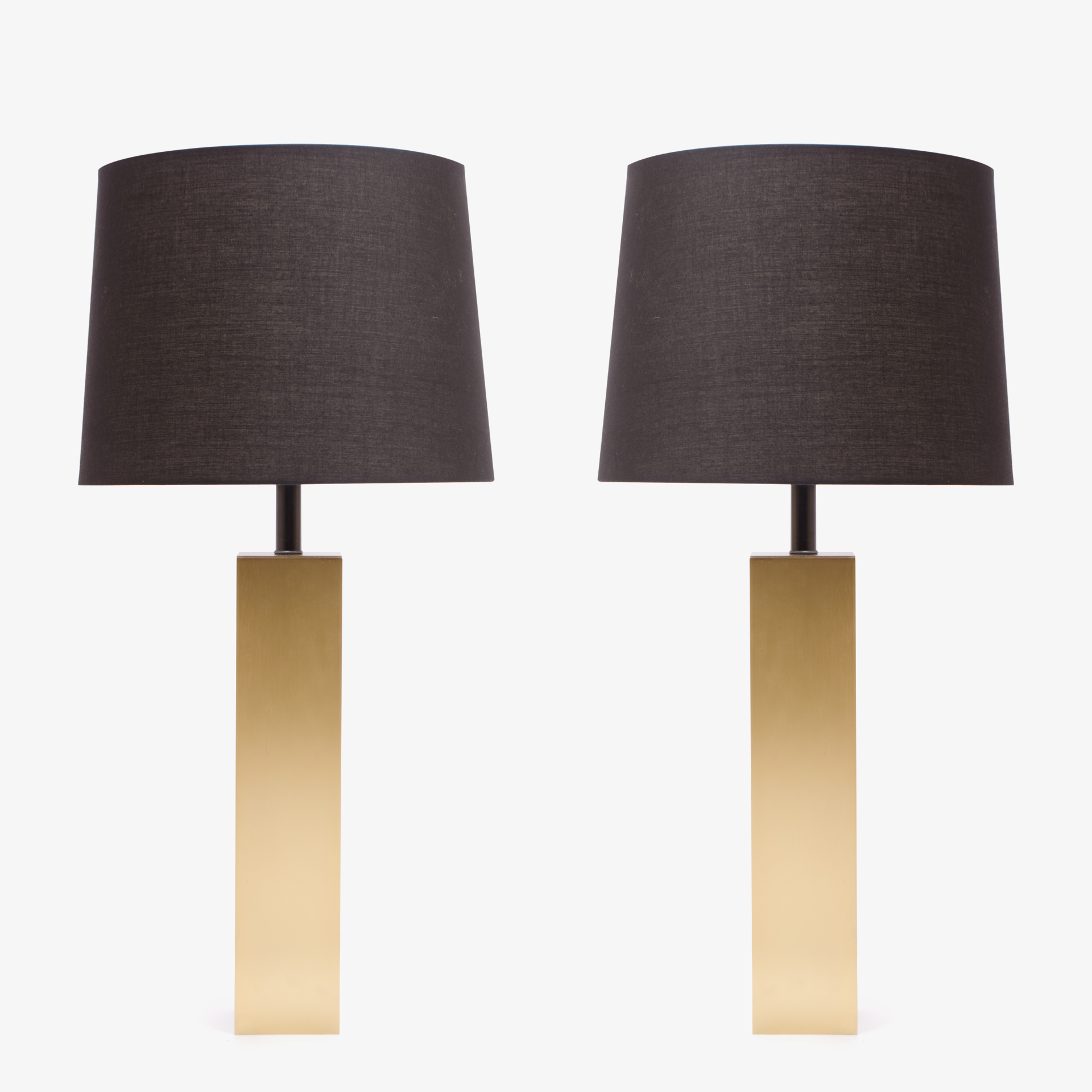 Minimalist Brushed Brass Lamps