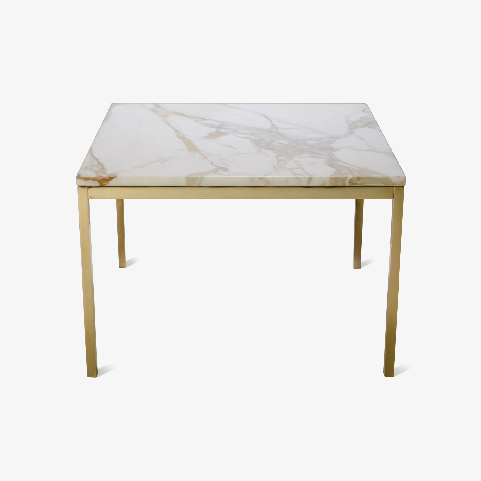 Florence Knoll Coffee Table with Calacatta Marble, 24k Gold Edition.png