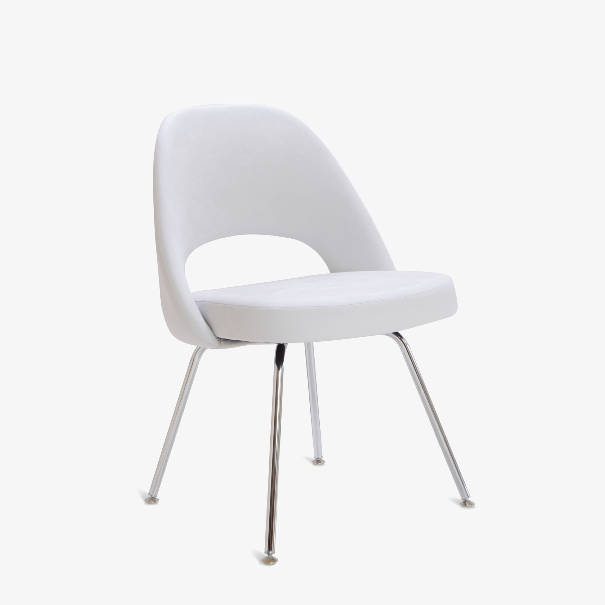 Knoll Saarinen Executive Armless Chair in Luxe Suede