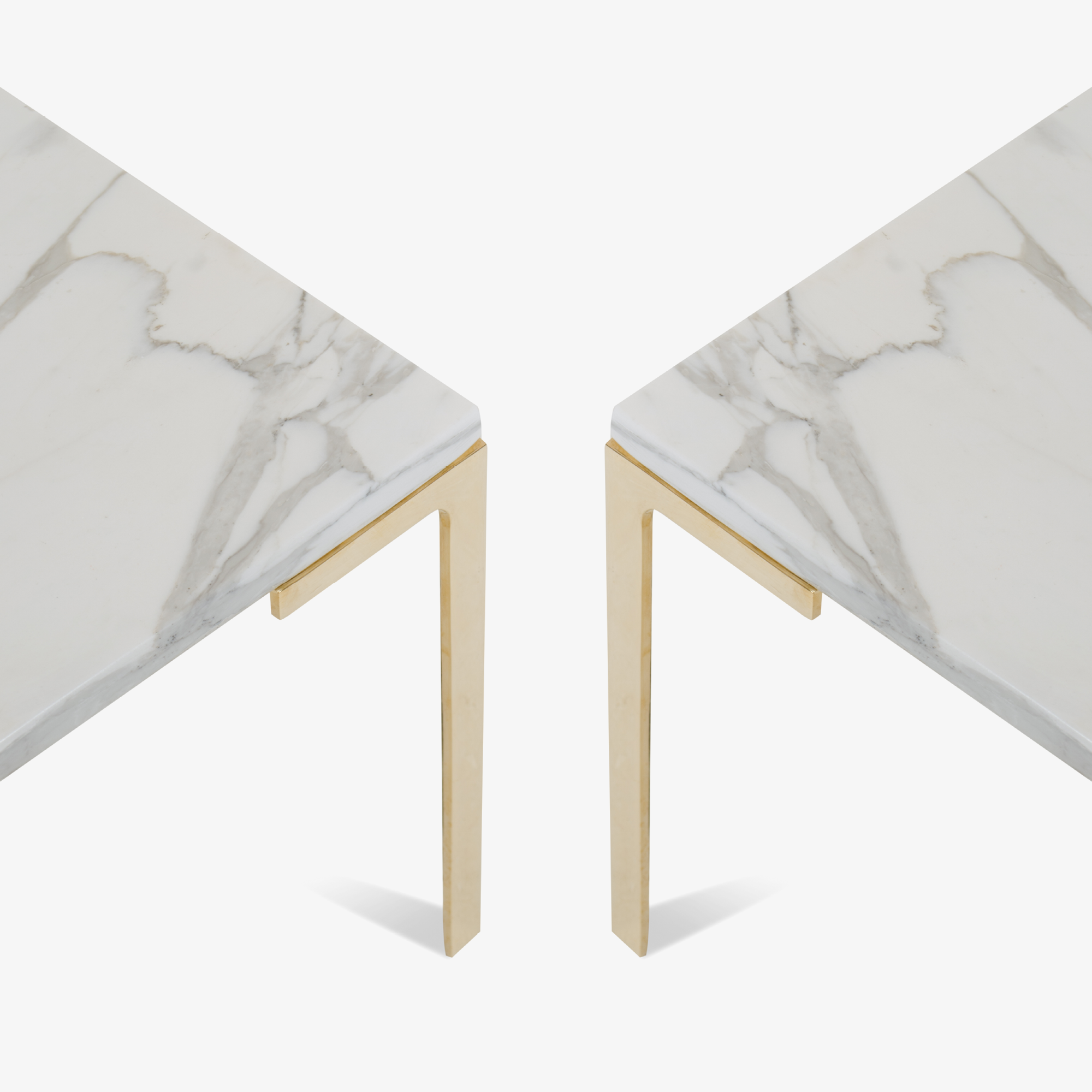 Montage Astor Brass Occasional Tables in Marble