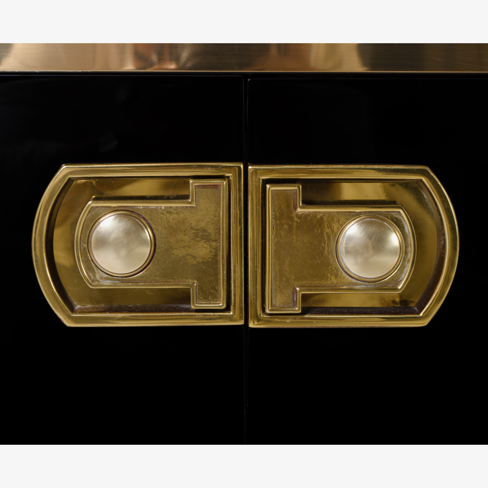 Mastercraft Lacquer & Brass Credenza