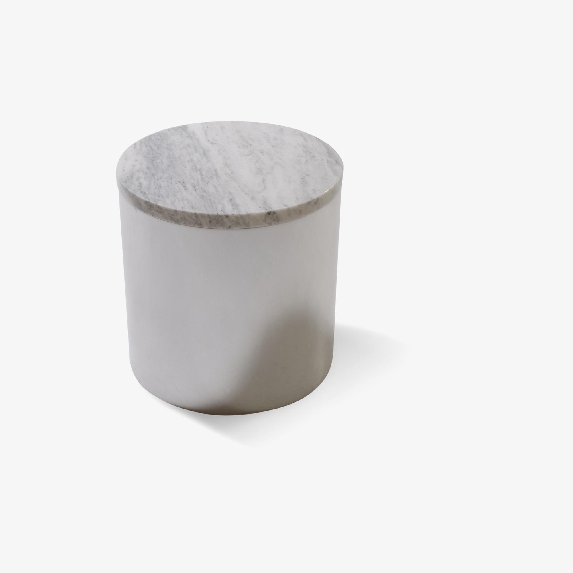 Paul Mayen Marble & Chrome Drum Table