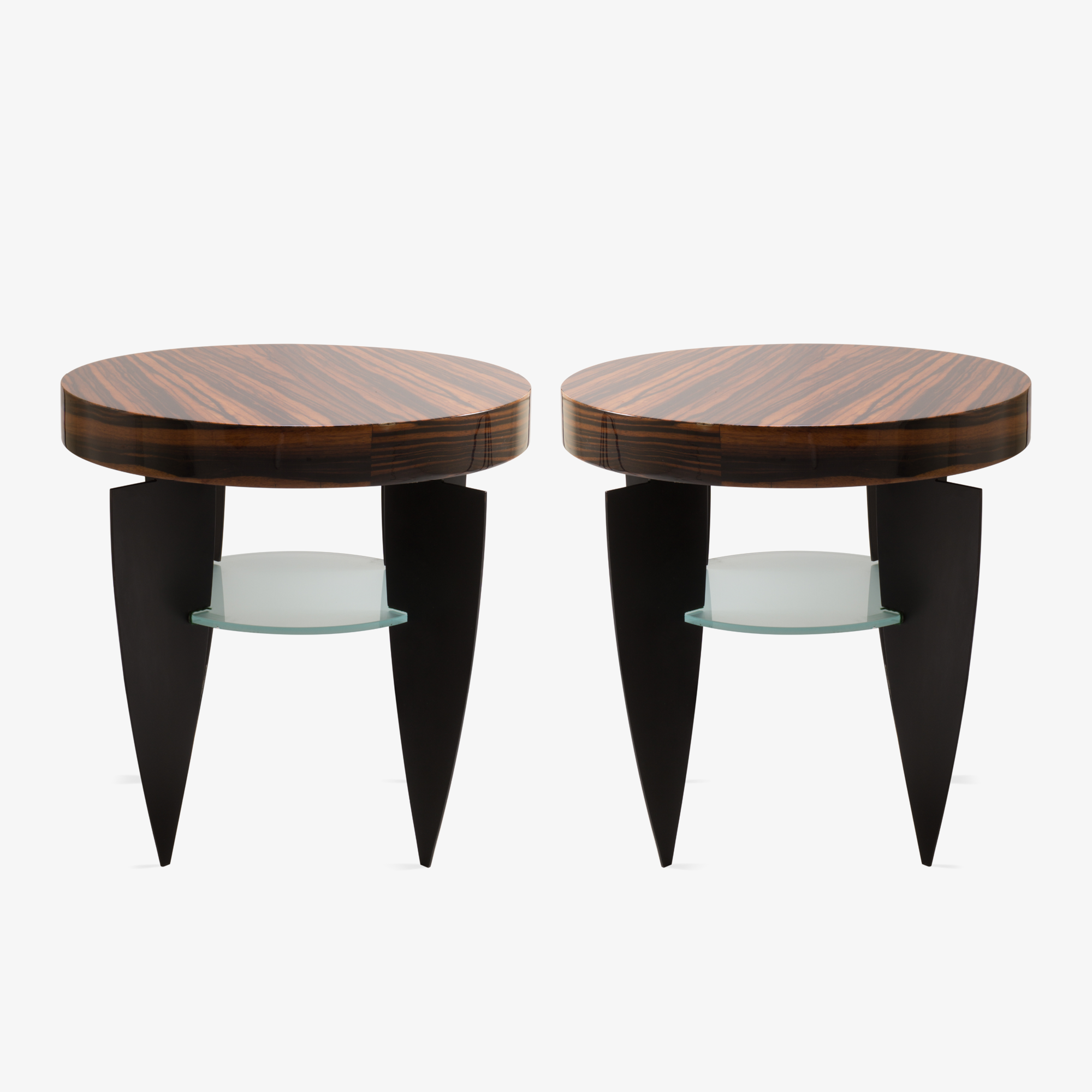 Pace Collection Memphis Style Side Tables, Pair