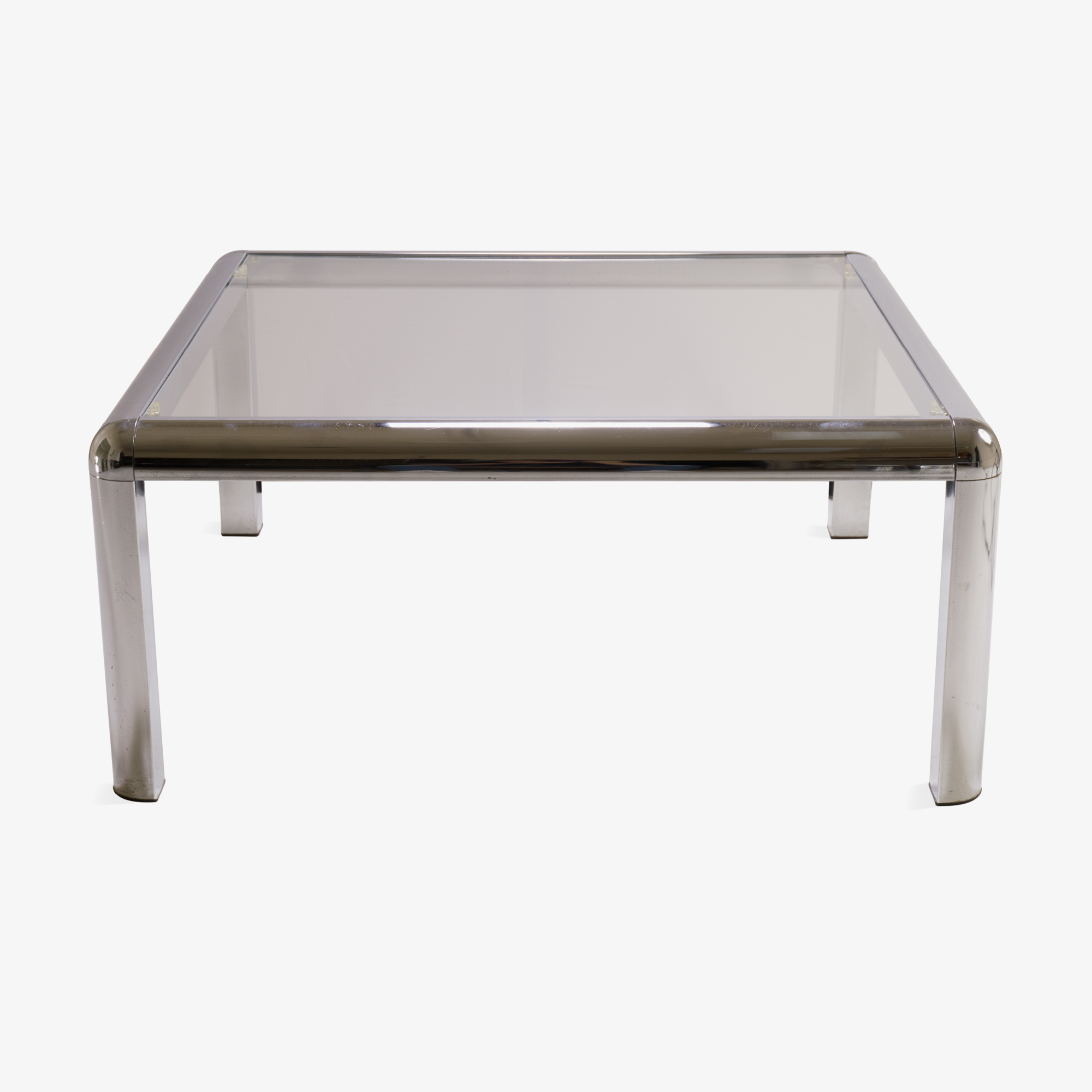 Mid-Century Square Chrome Cocktail Table with Rounded Frame.png