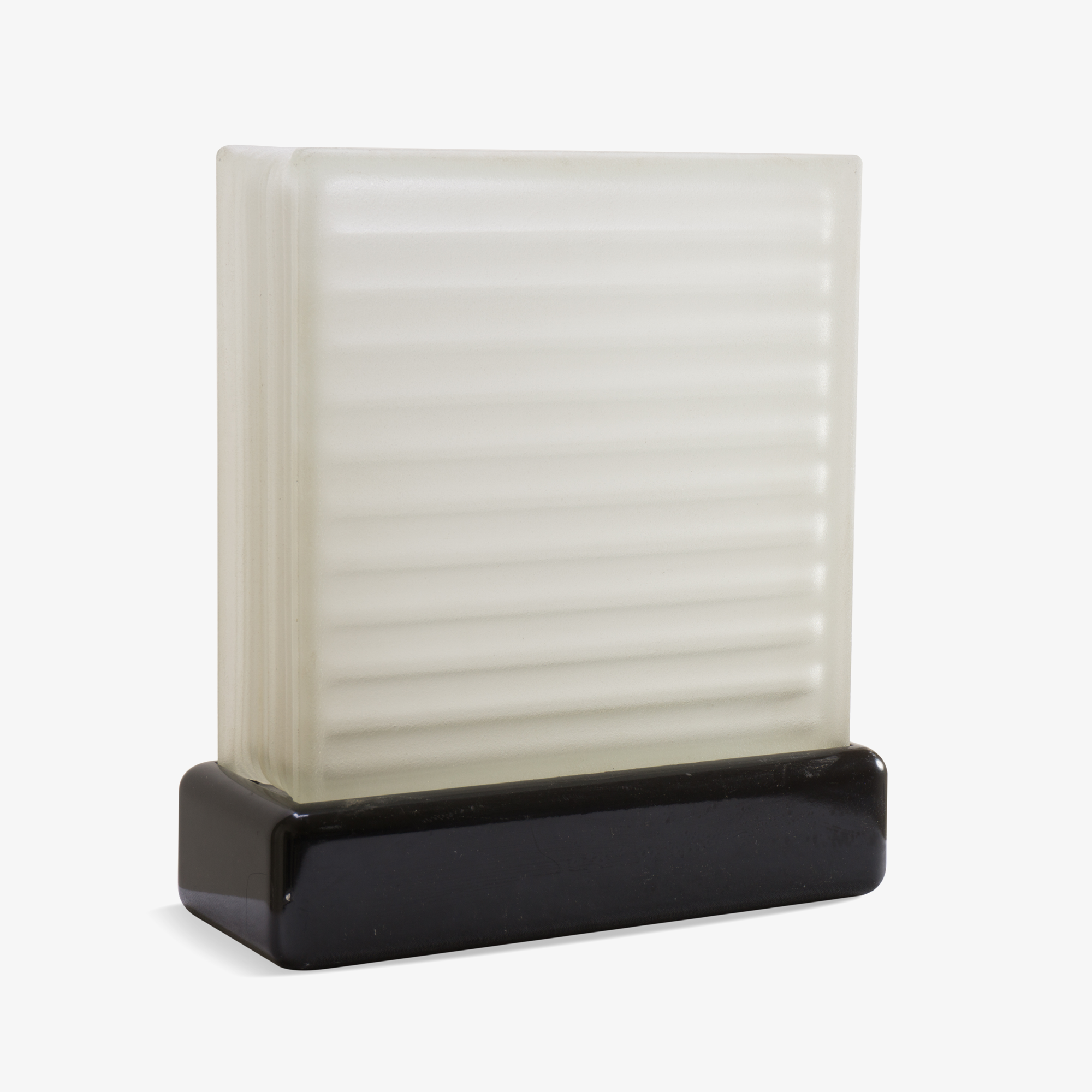Art-Deco Frosted Glass Accent Light
