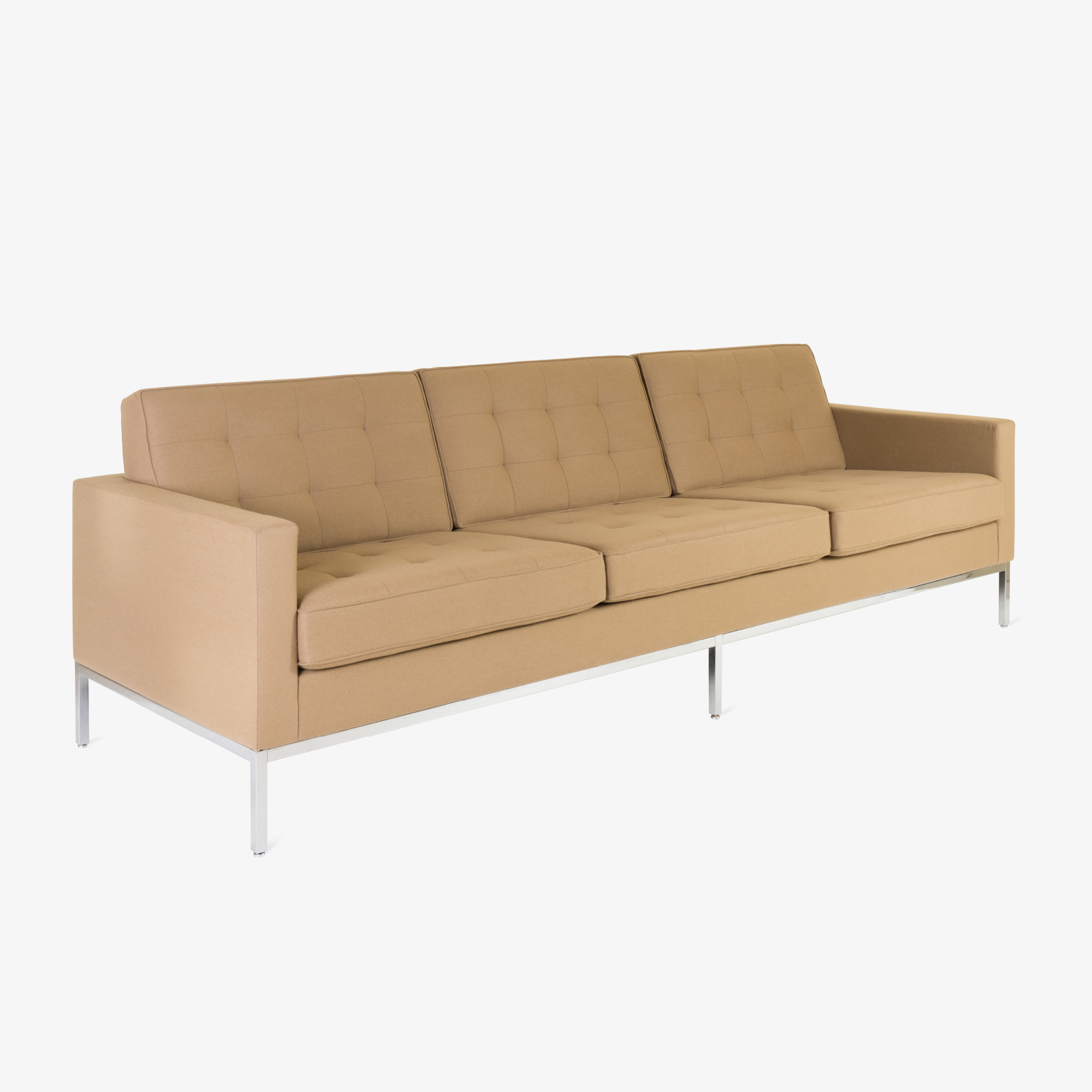 Florence Knoll Sofa in Camel Wool Flannel