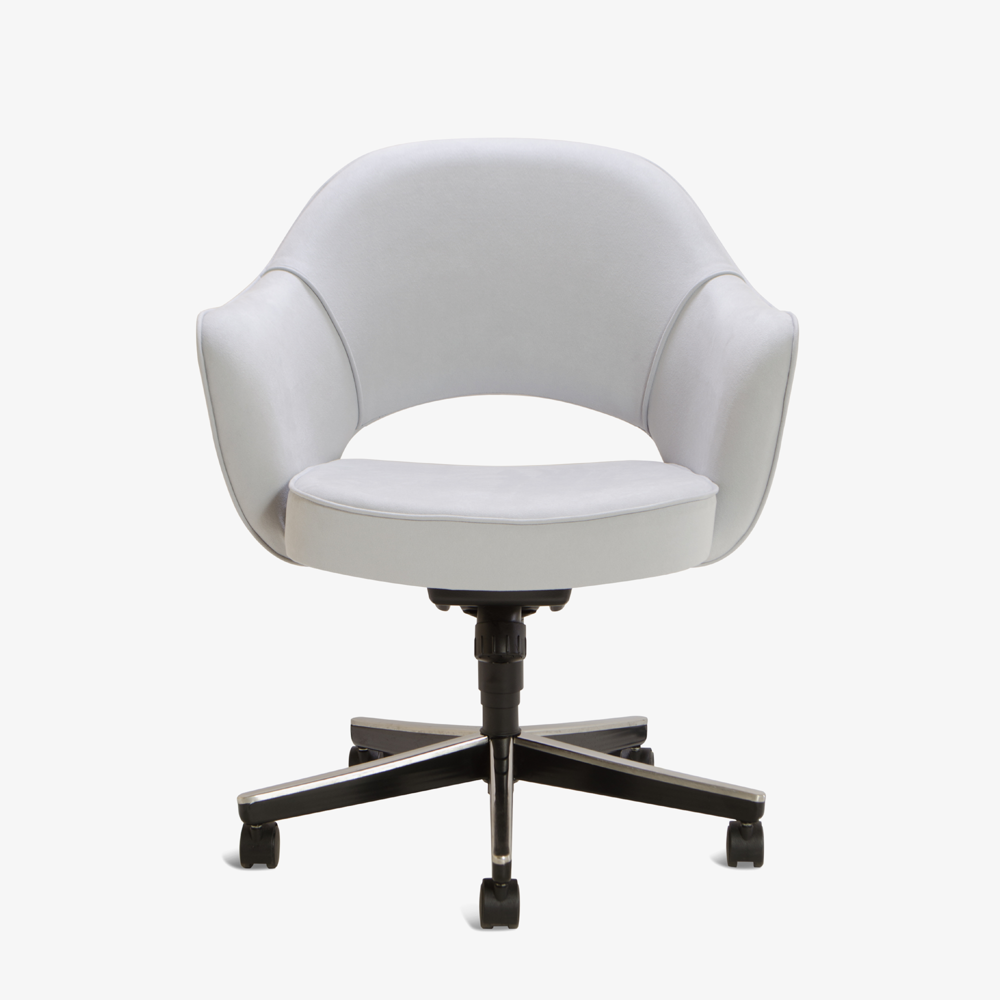 Knoll Saarinen Executive Arm Chair in Luxe Suede, Swivel Base
