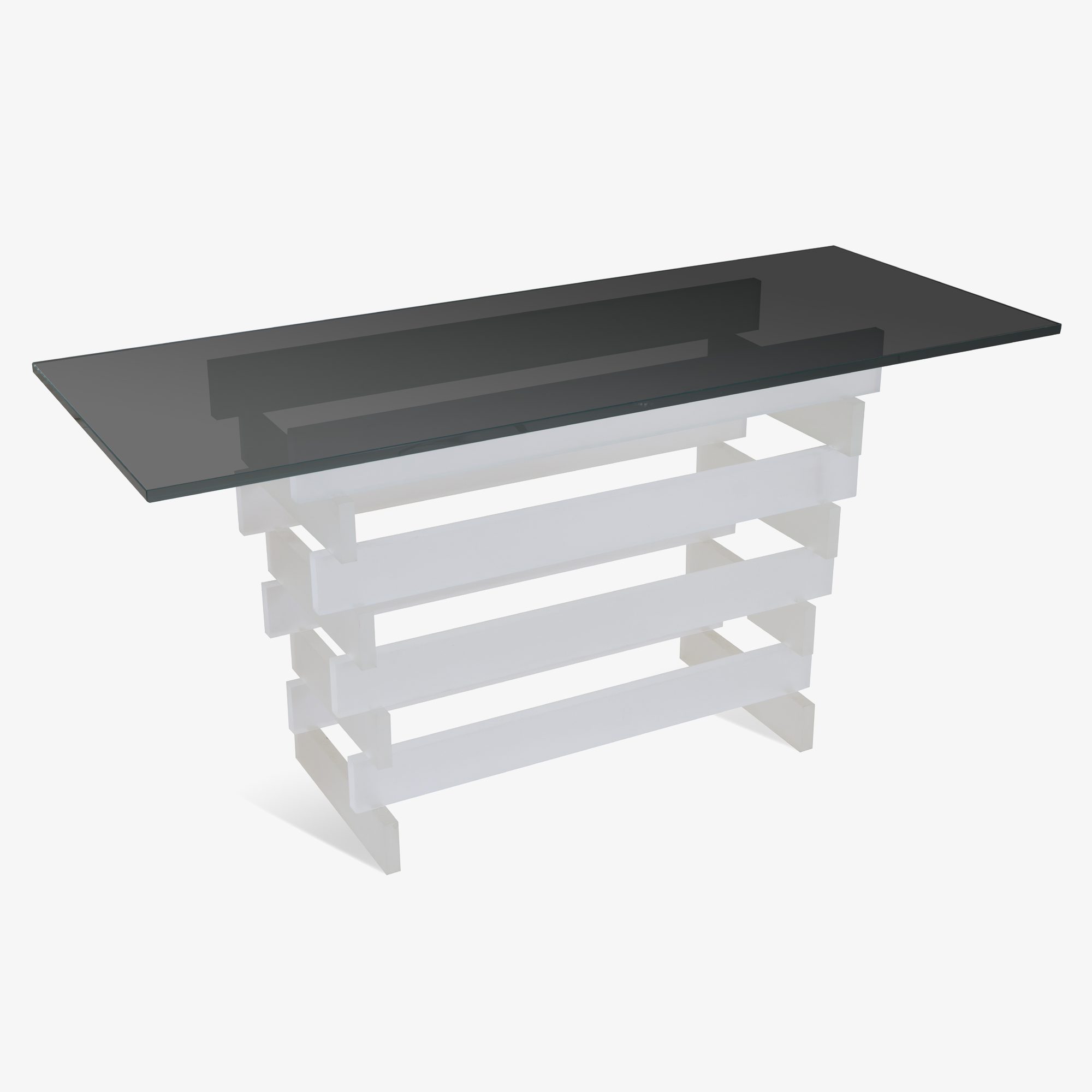Stacked Lucite Console