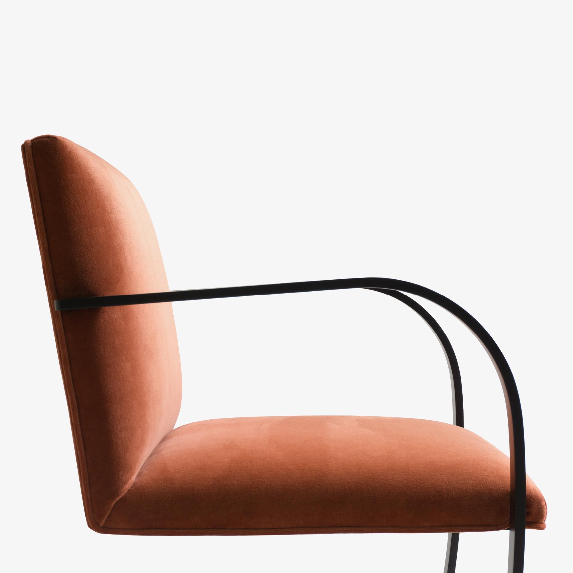 Brno Flat-Bar Chair in Rust Velvet, Obsidian Matte6.png