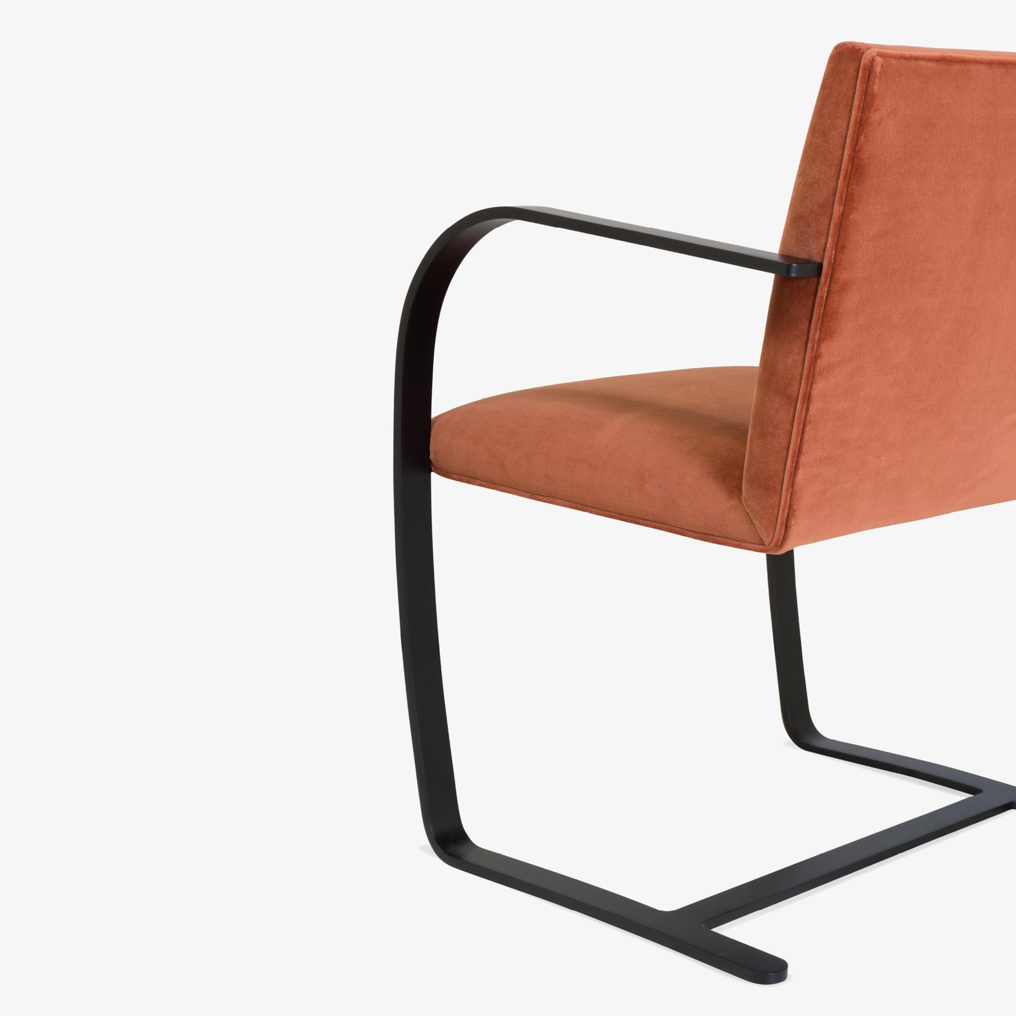 Brno Flat-Bar Chair in Rust Velvet, Obsidian Matte7.png