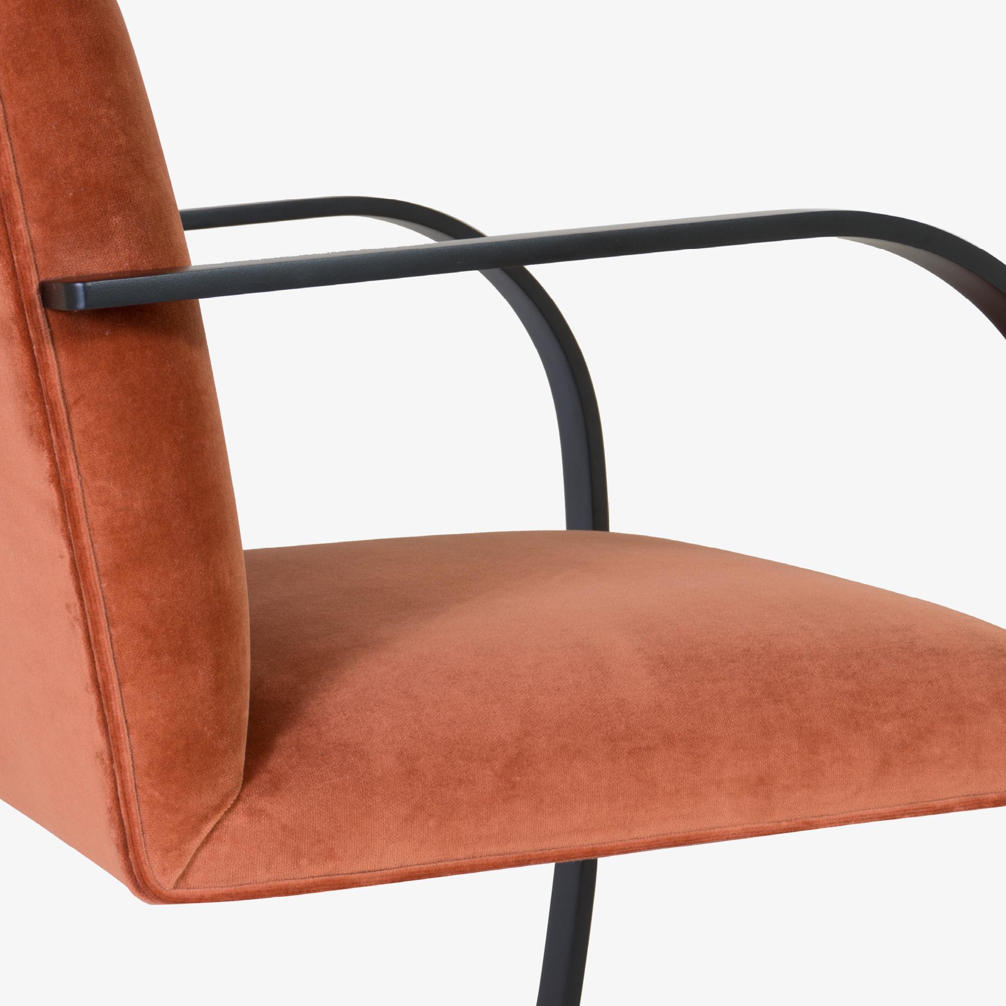 Brno Flat-Bar Chair in Rust Velvet, Obsidian Matte10.png