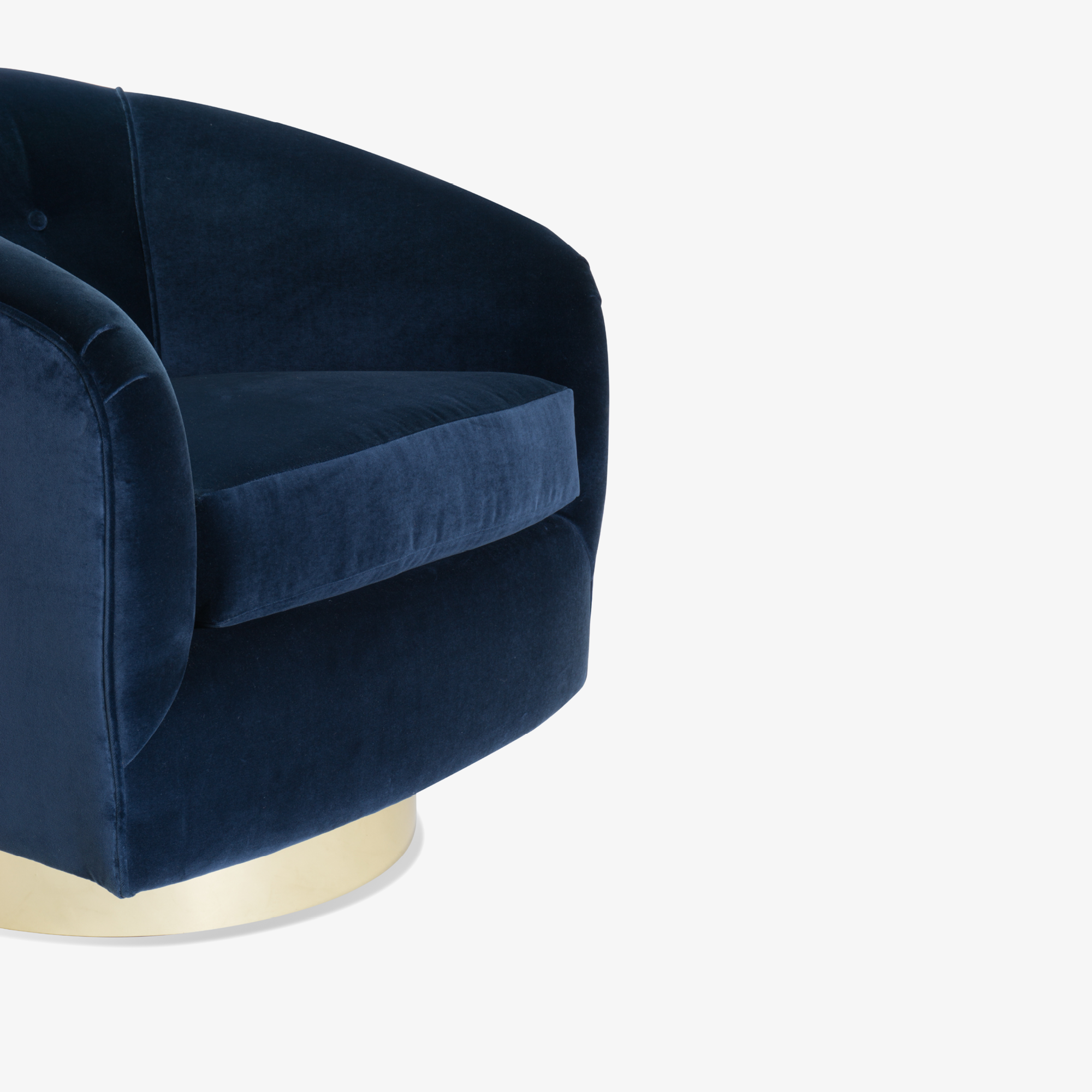 Swivel Tub Chairs in Navy Velvet with Polished Brass Bases, Pair6.png