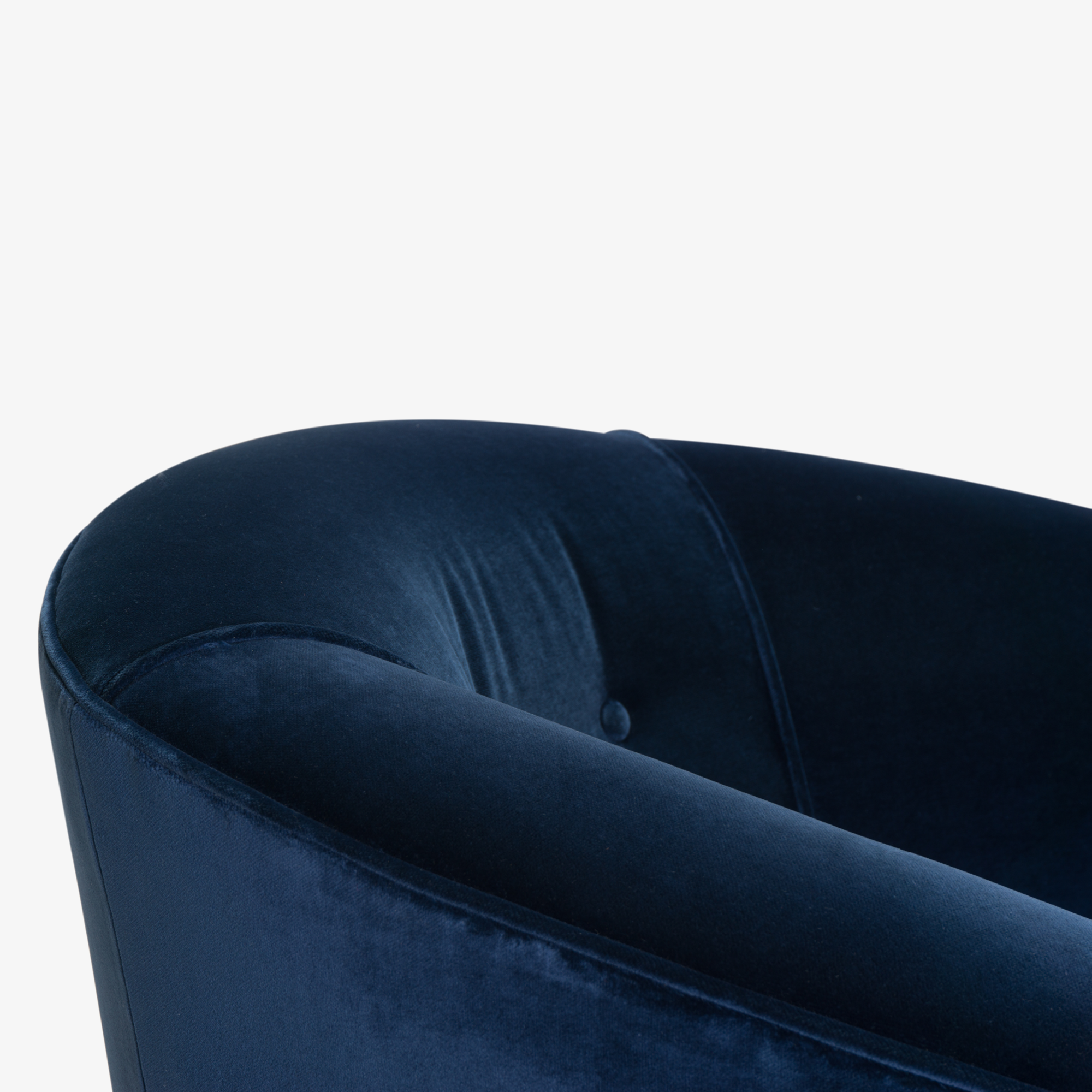 Swivel Tub Chairs in Navy Velvet with Polished Brass Bases, Pair7.png