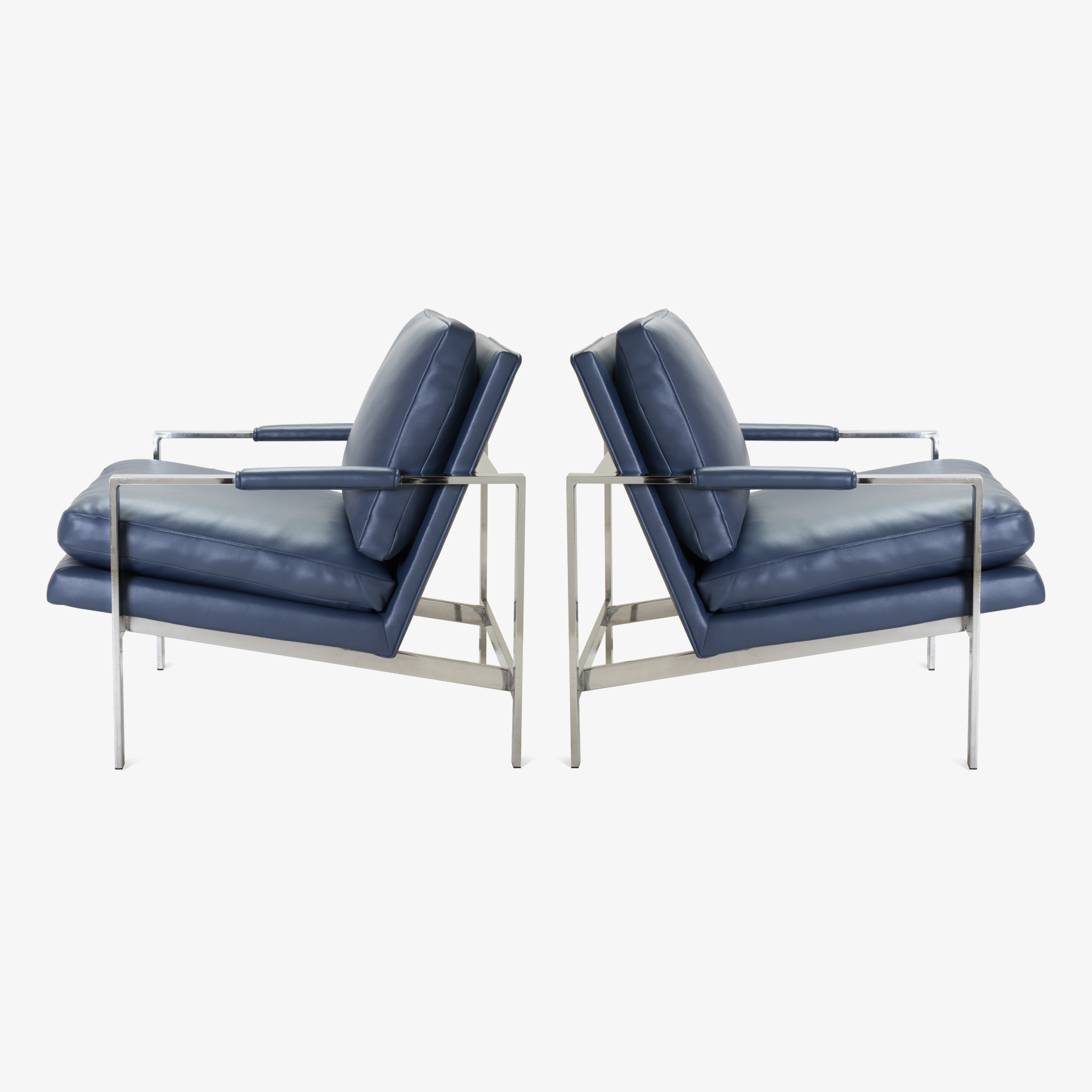 Flat-Bar Club Chairs in Navy Leather by Milo Baughman for Thayer Coggin2.png