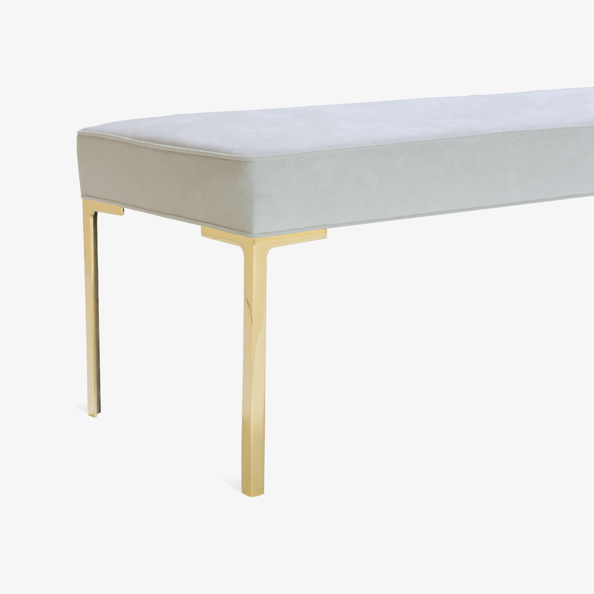 Astor 60%22 Brass Bench in Dove Luxe Suede4.png