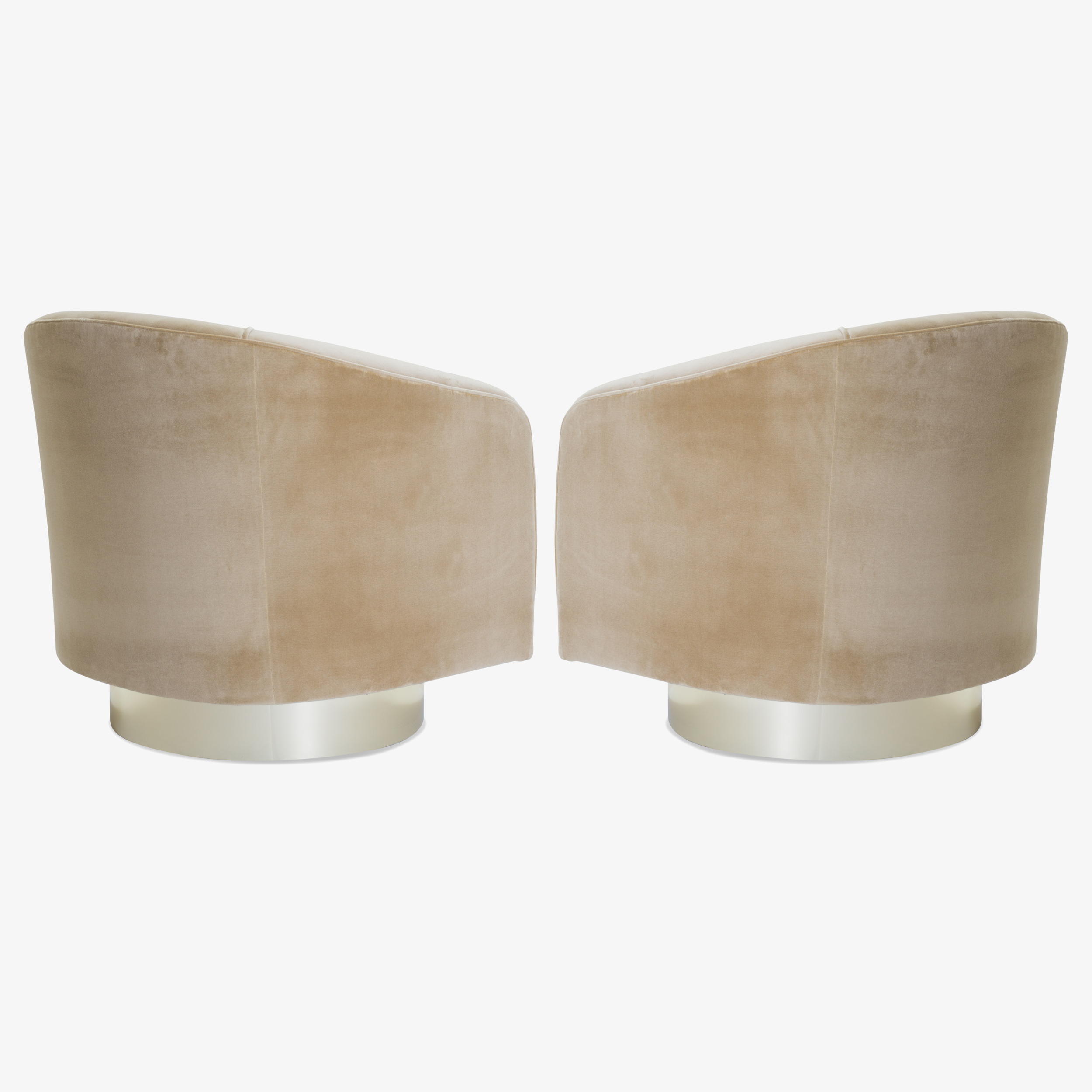 Swivel Tub Chairs with Brass Bases in Camel Velvet4.png