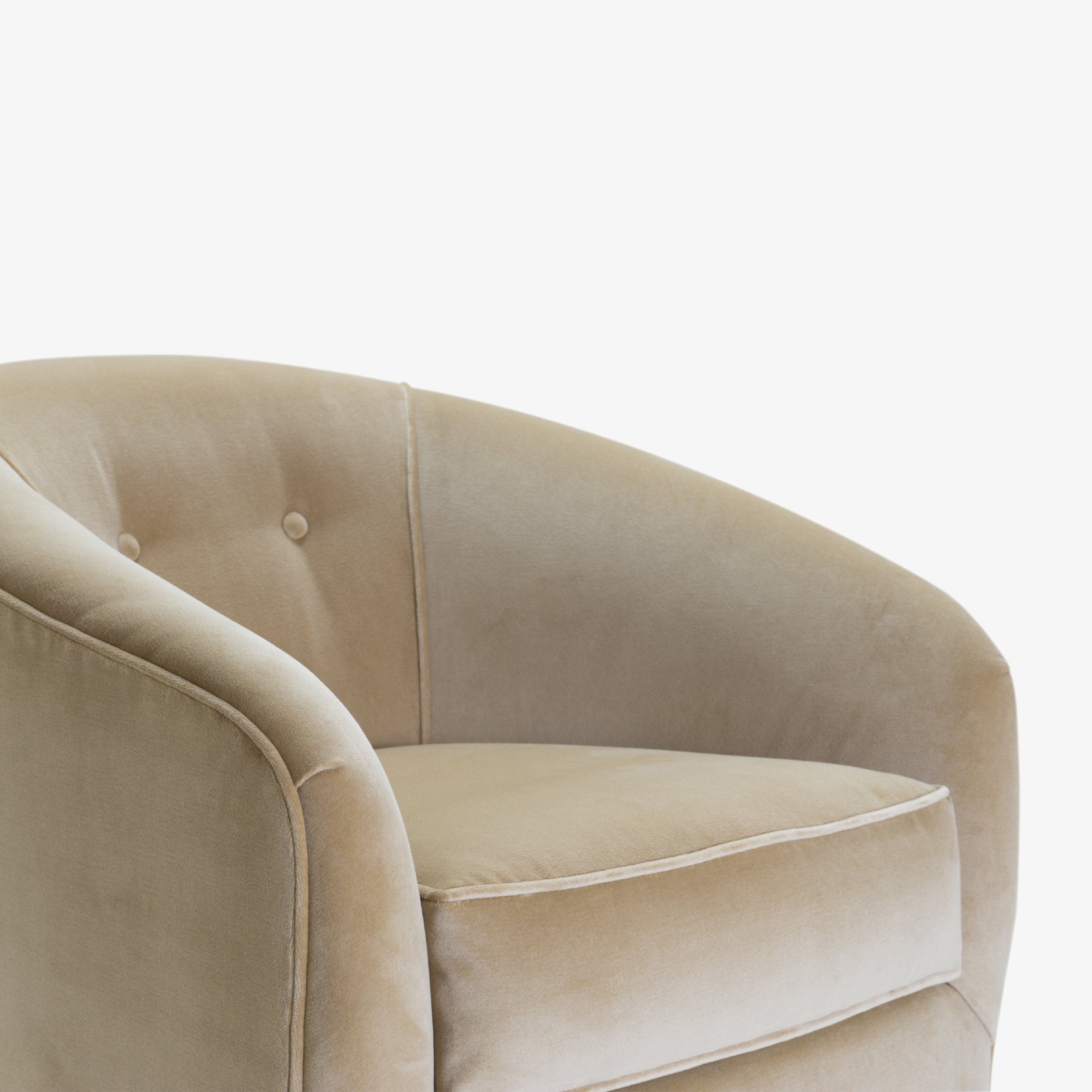 Swivel Tub Chairs with Brass Bases in Camel Velvet6.png