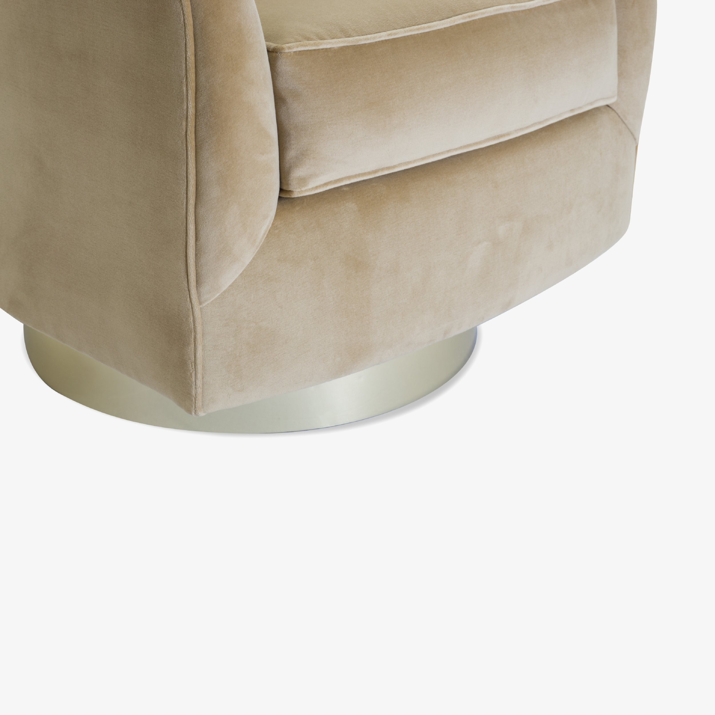 Swivel Tub Chairs with Brass Bases in Camel Velvet7.png