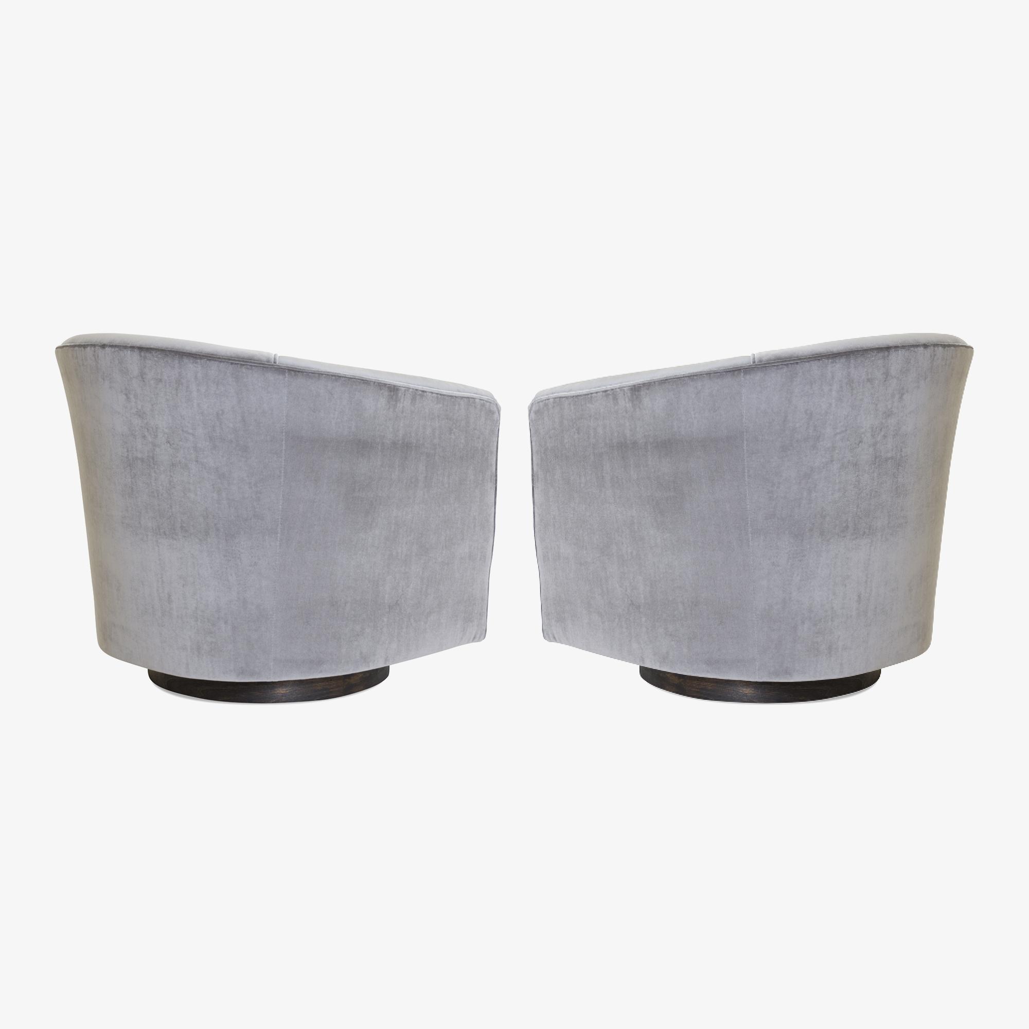 Swivel Tub Chairs in Fog Velvet & Walnut Bases, Pair4.png