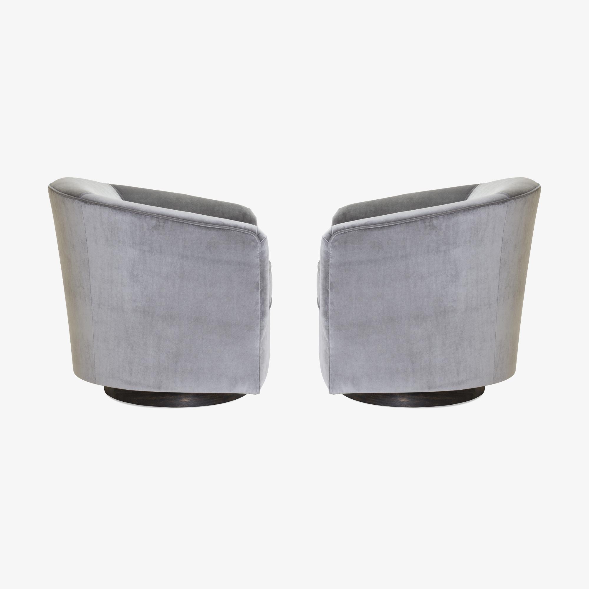 Swivel Tub Chairs in Fog Velvet & Walnut Bases, Pair3.png