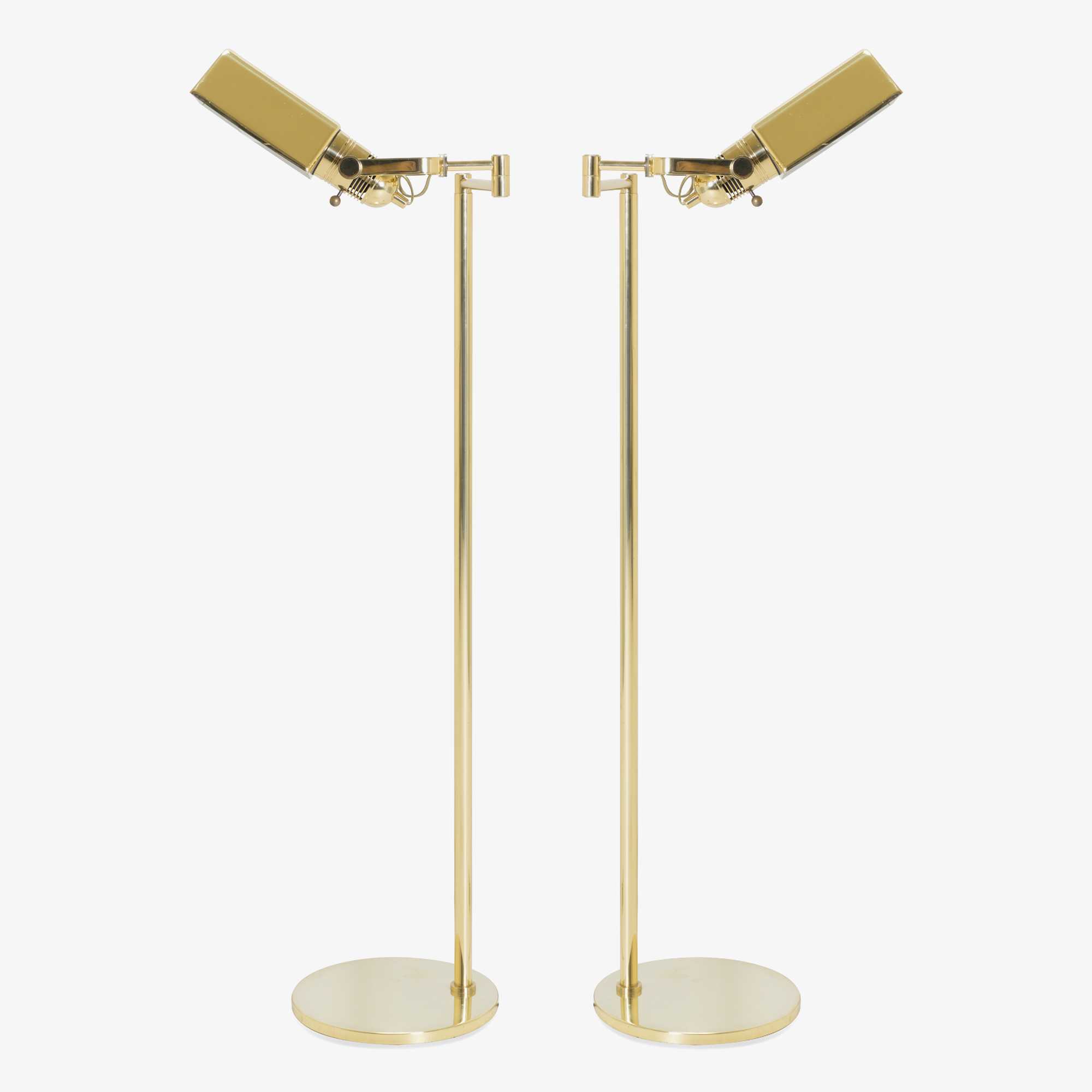 Brass Reading Lamps by Nessen, Pair.png