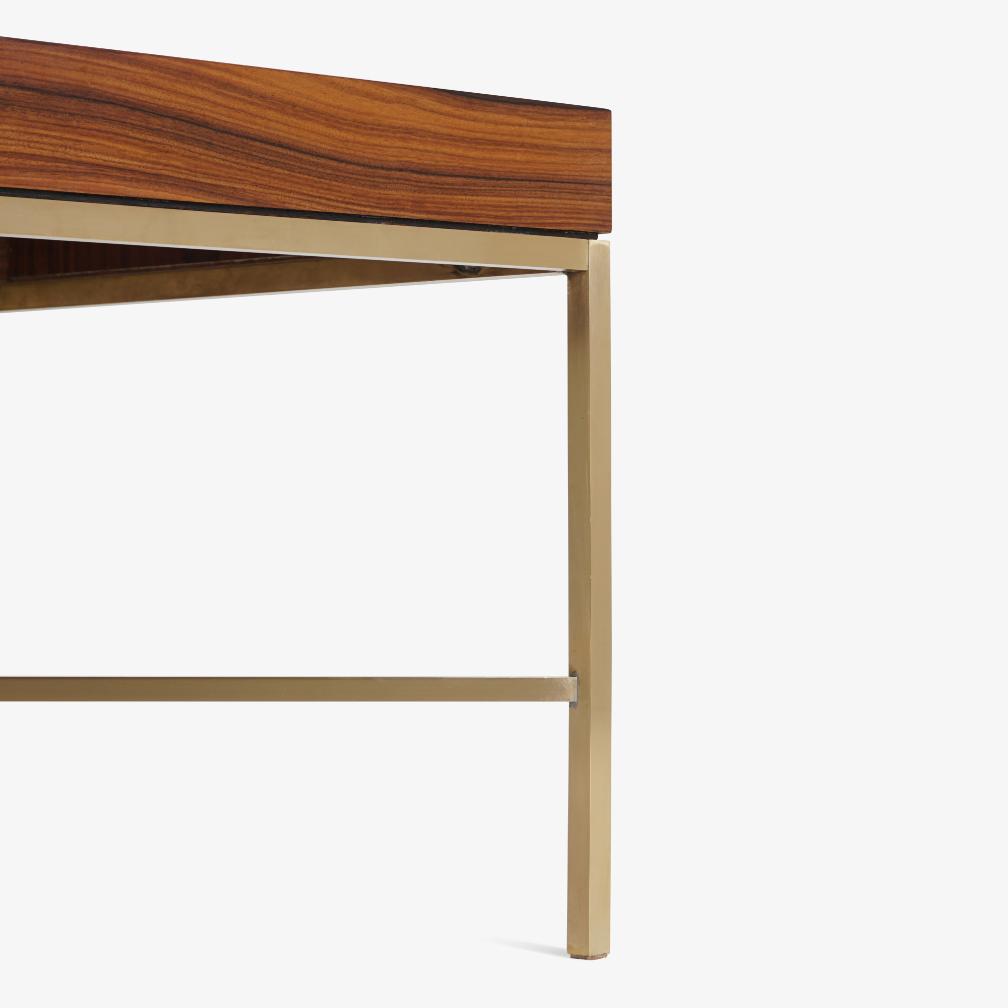 Brass Cross Stretcher Table in Rosewood6.png