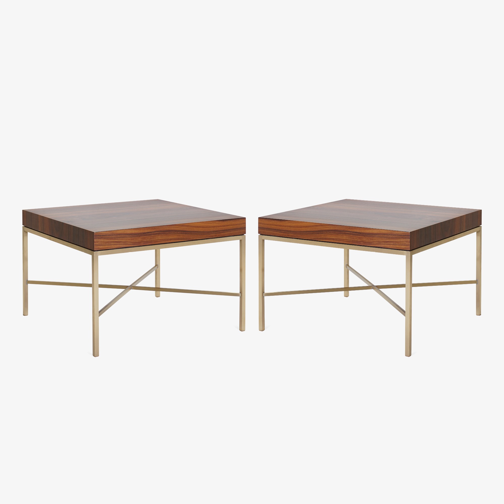 Brass Cross Stretcher Table in Rosewood3.png