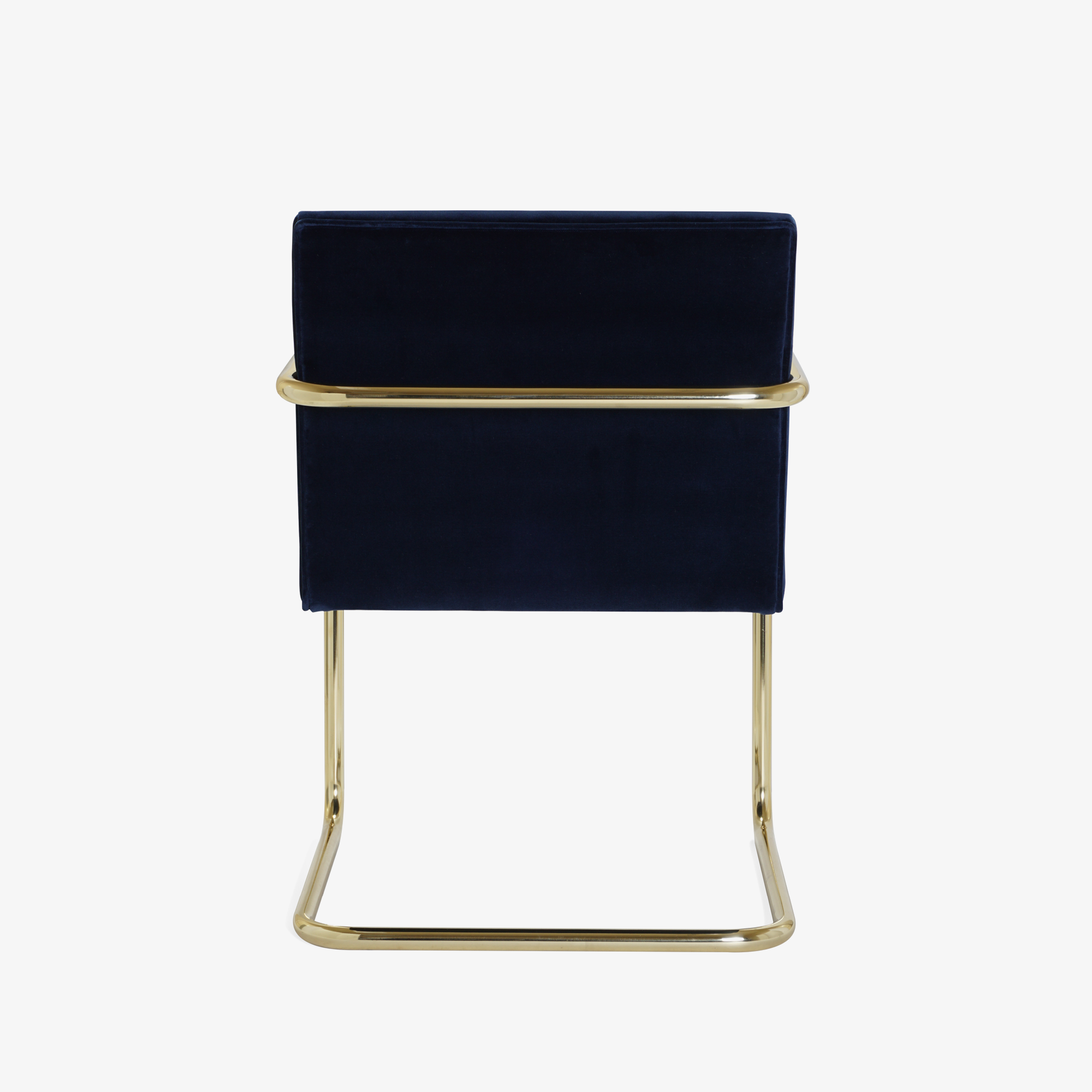 Brno Tubular Chair in Velvet, Polished Brass5.png