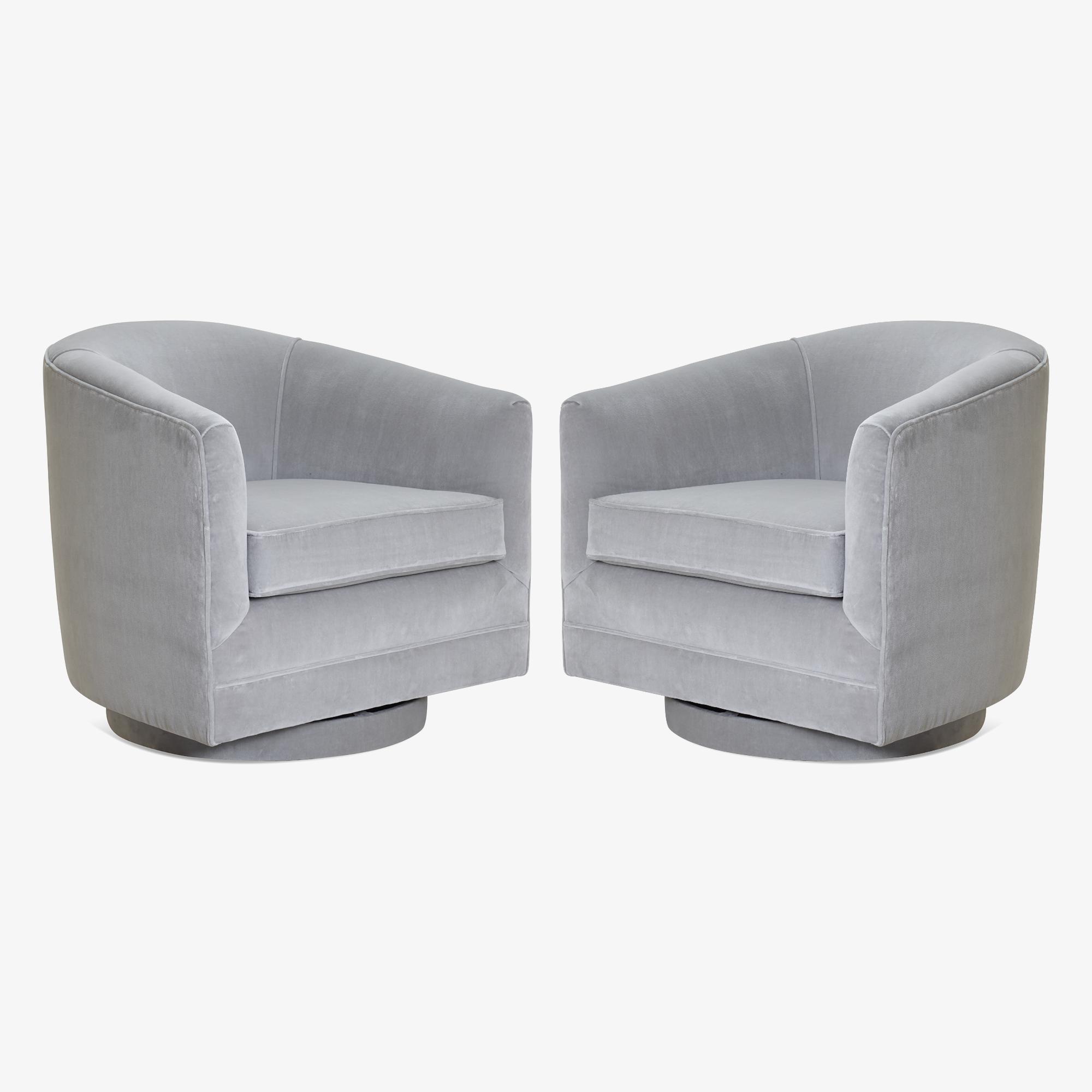 Swivel Tub Chairs in Dove Velvet, Pair.png