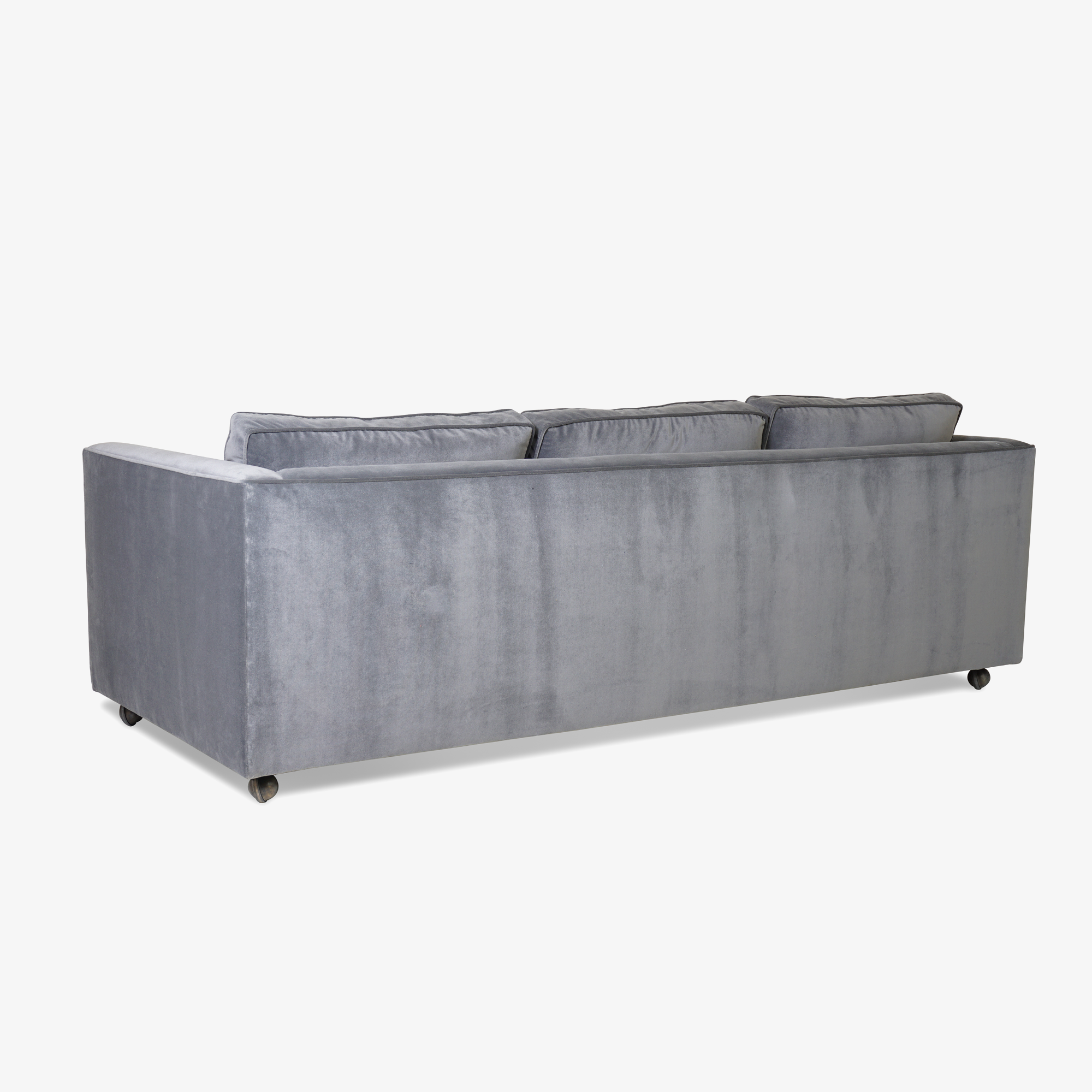 Mid-Century Three Seat Sofa in Grey Performance Velvet4.png