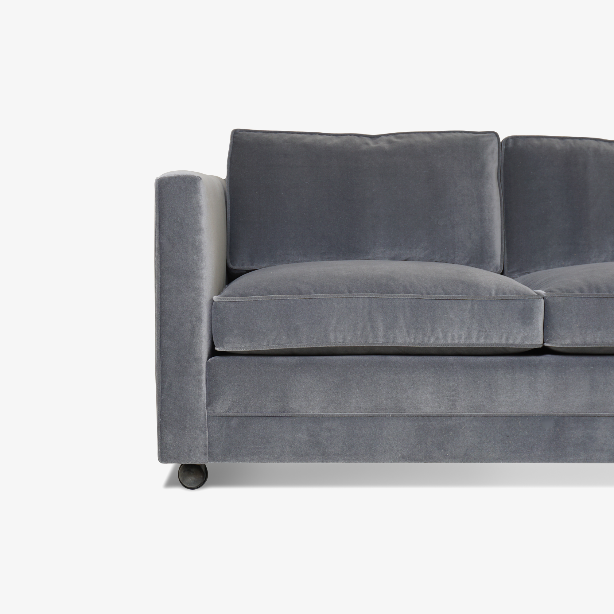 Mid-Century Three Seat Sofa in Grey Performance Velvet6.png