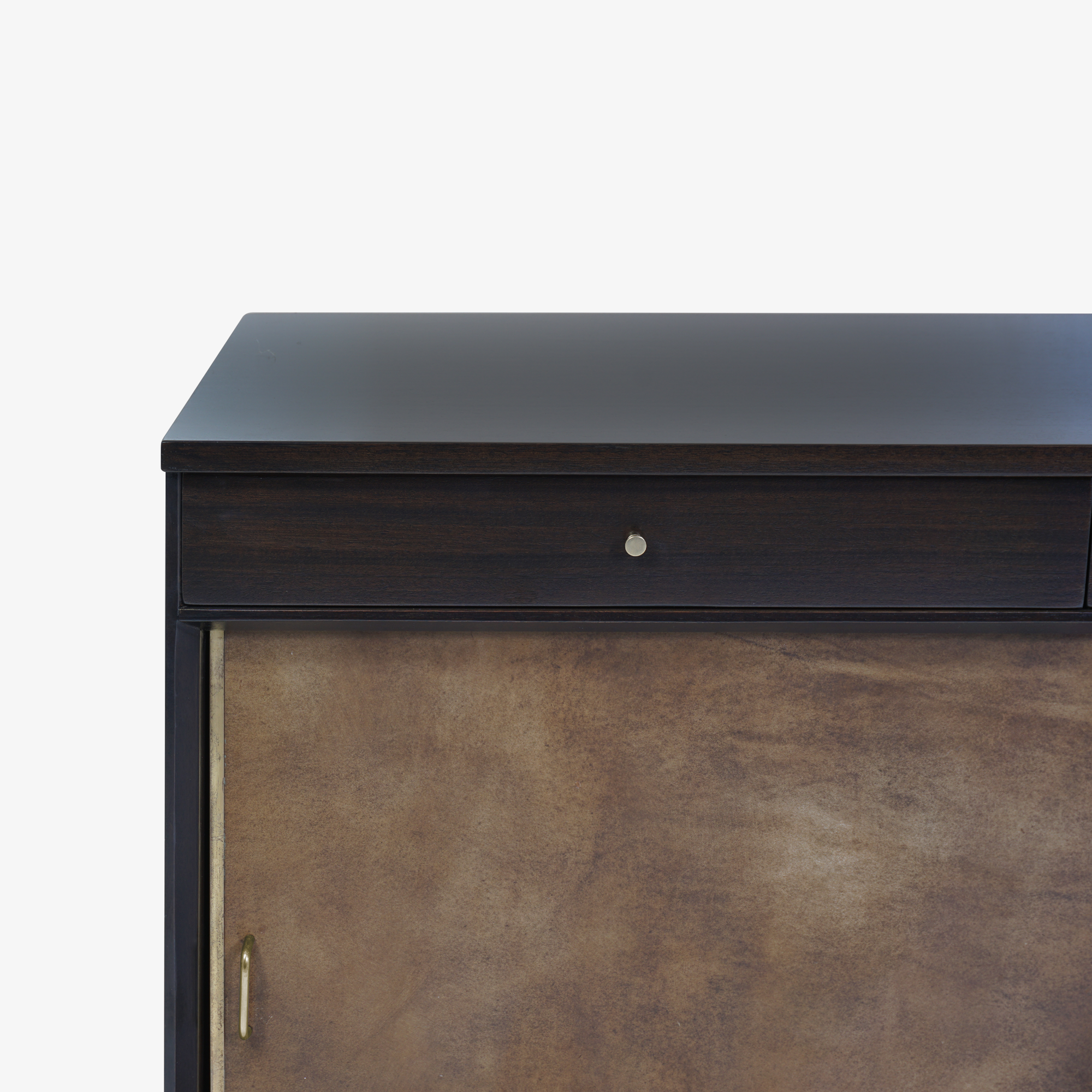 Walnut & Brass Cross Stretcher Credenza by Paul McCobb for Calvin Group3.png