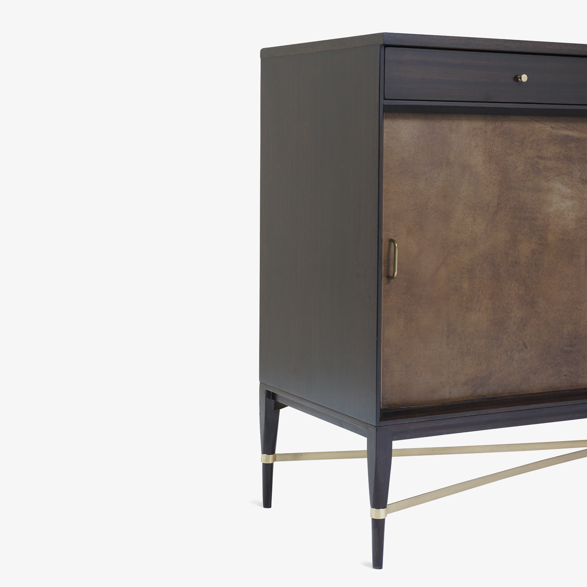 Walnut & Brass Cross Stretcher Credenza by Paul McCobb for Calvin Group8.png